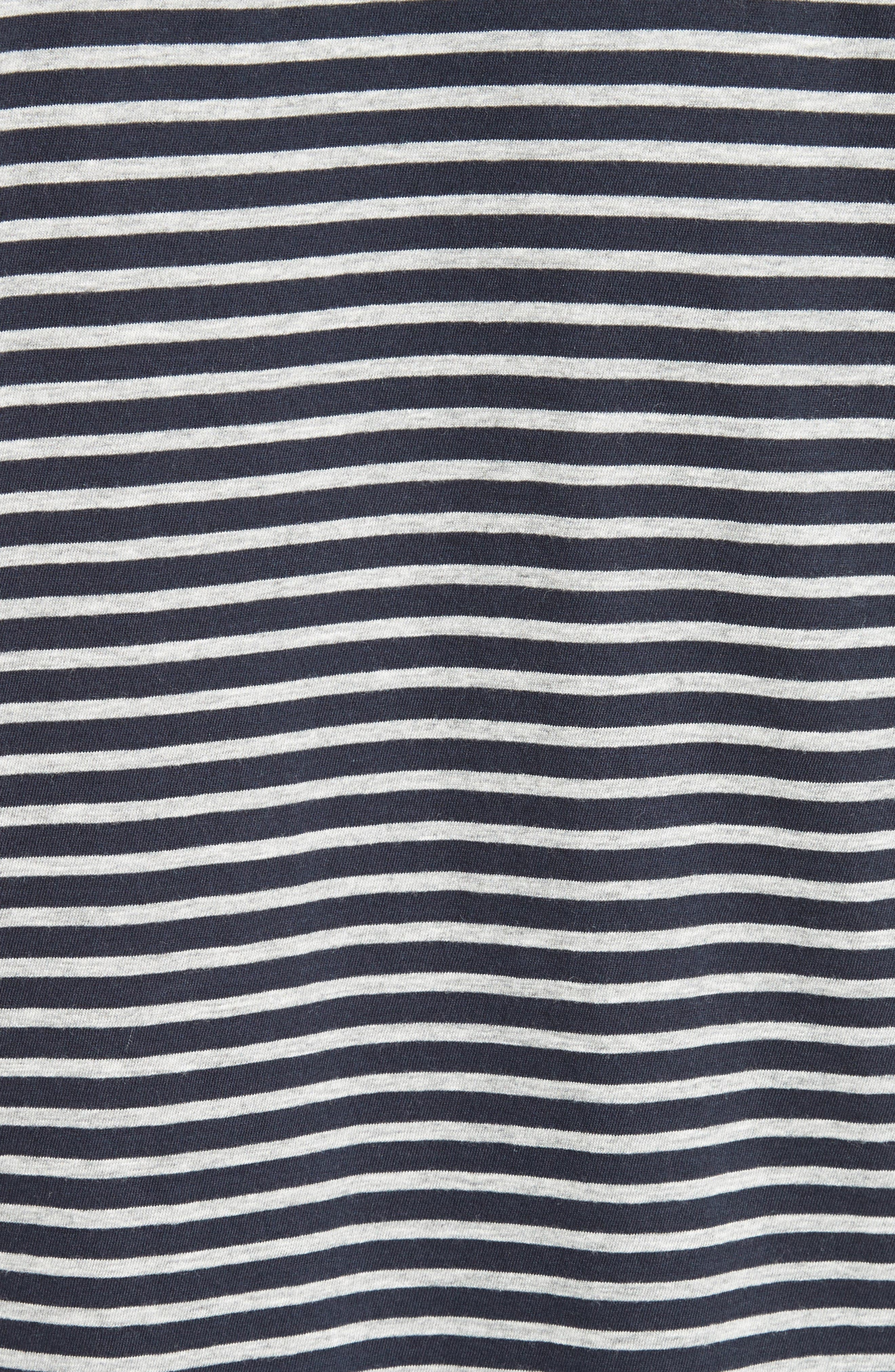 T by Alexander Wang Stripe T-Shirt Dress,                             Alternate thumbnail 5, color,                             400