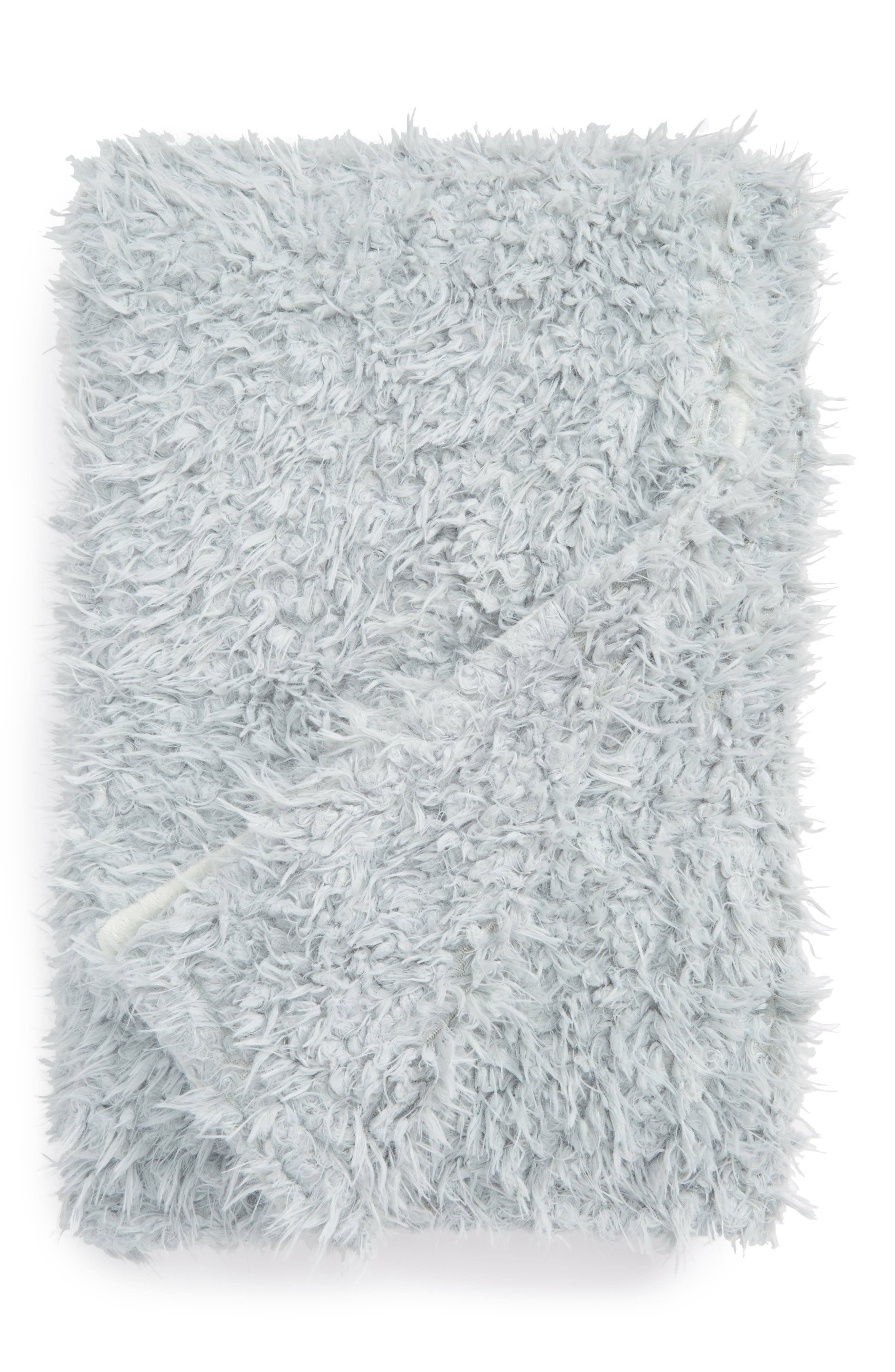 Faux Fur Throw,                             Main thumbnail 3, color,