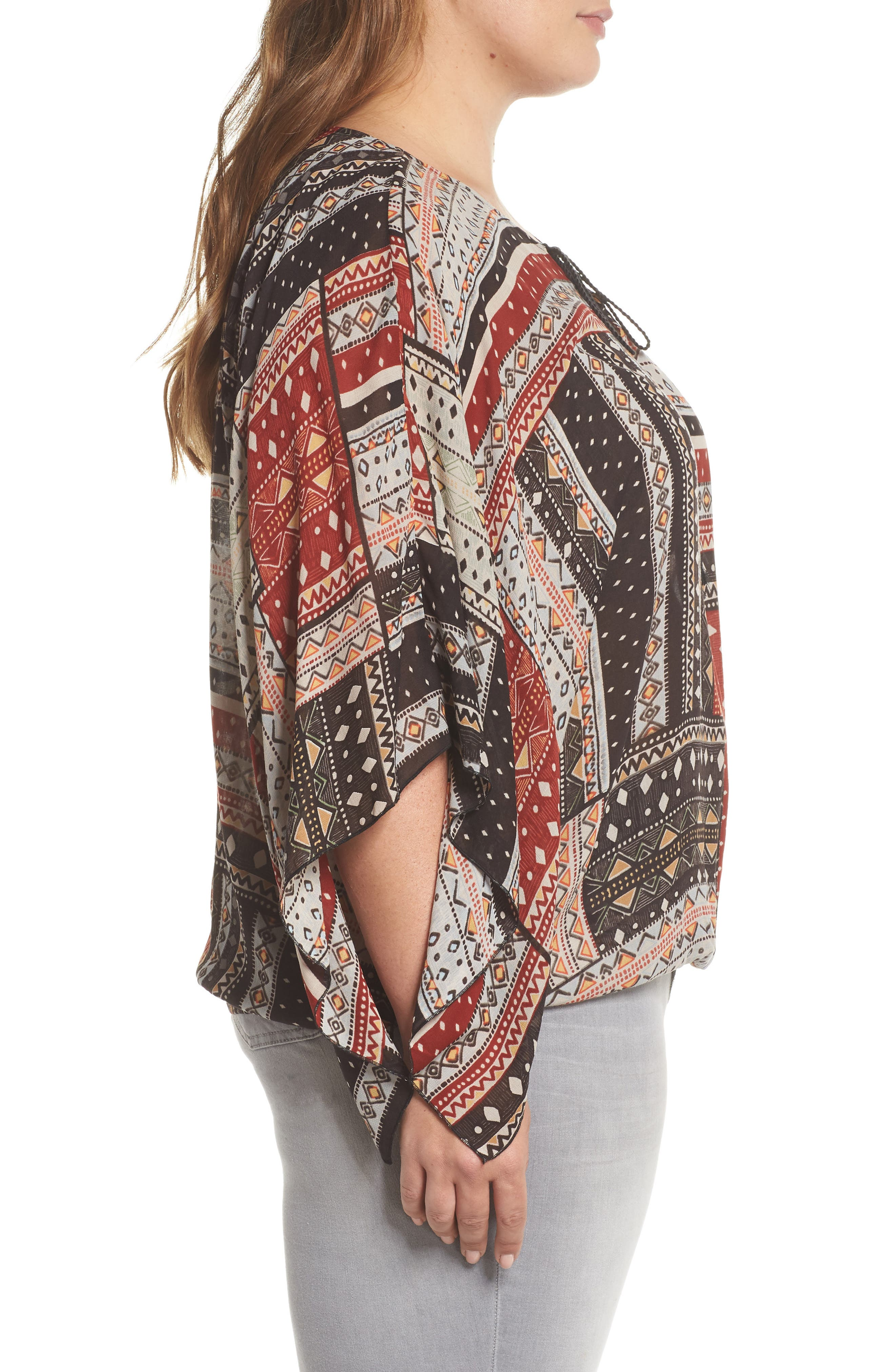 Poncho Top,                             Alternate thumbnail 3, color,                             209