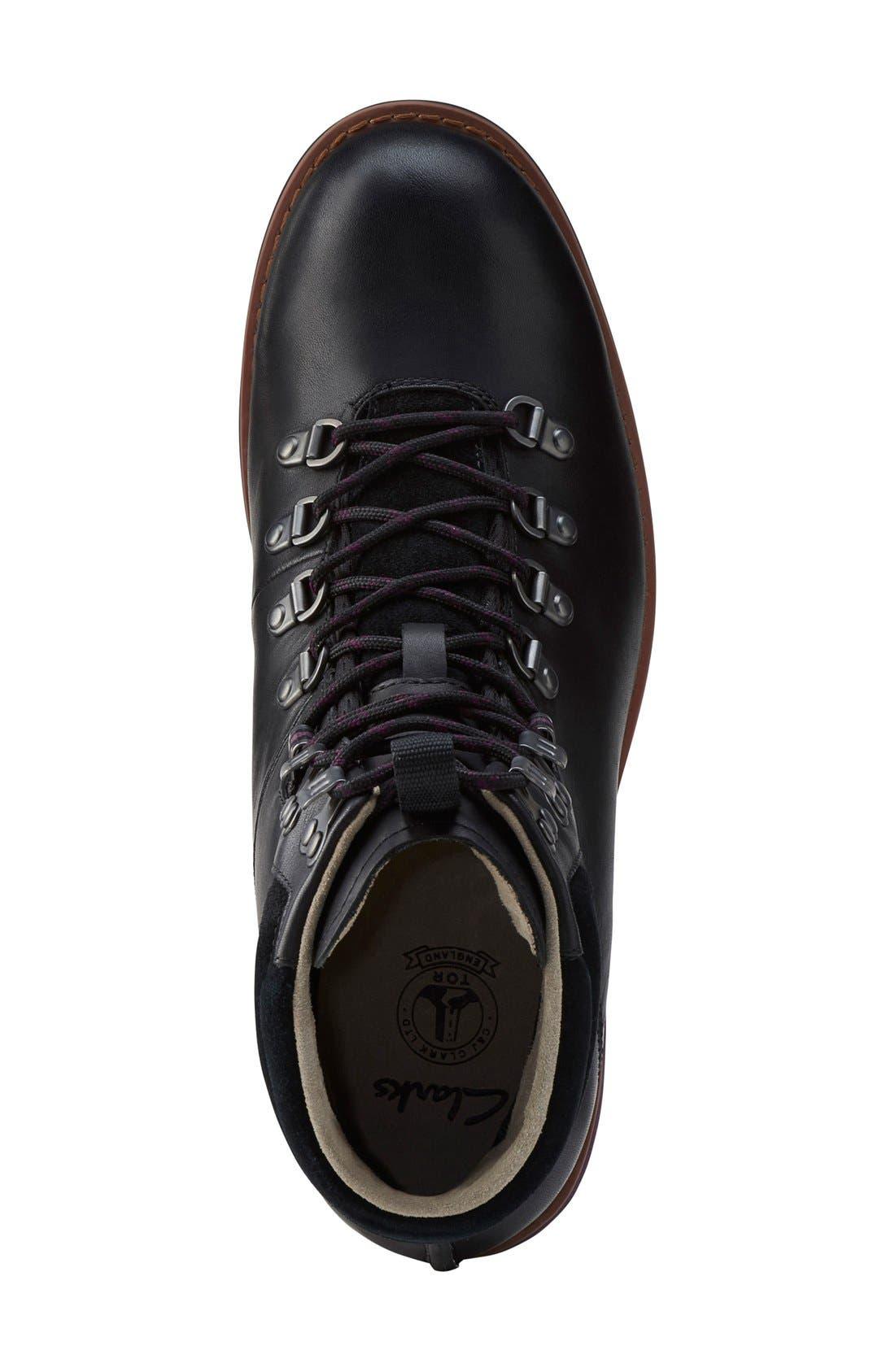 'PadleyAlp' Plain Toe Boot,                             Alternate thumbnail 3, color,                             003