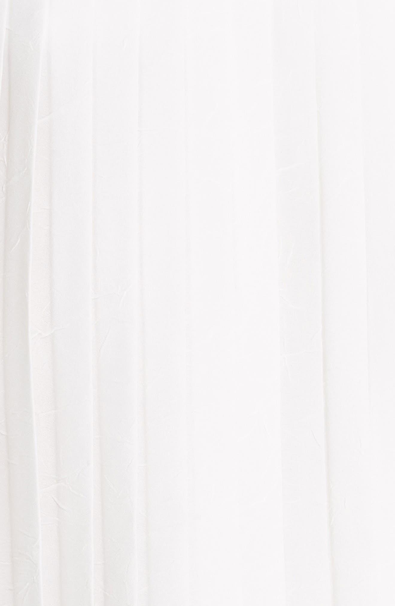 Accordion Pleat Culotte Pants,                             Alternate thumbnail 5, color,                             OFF WHITE