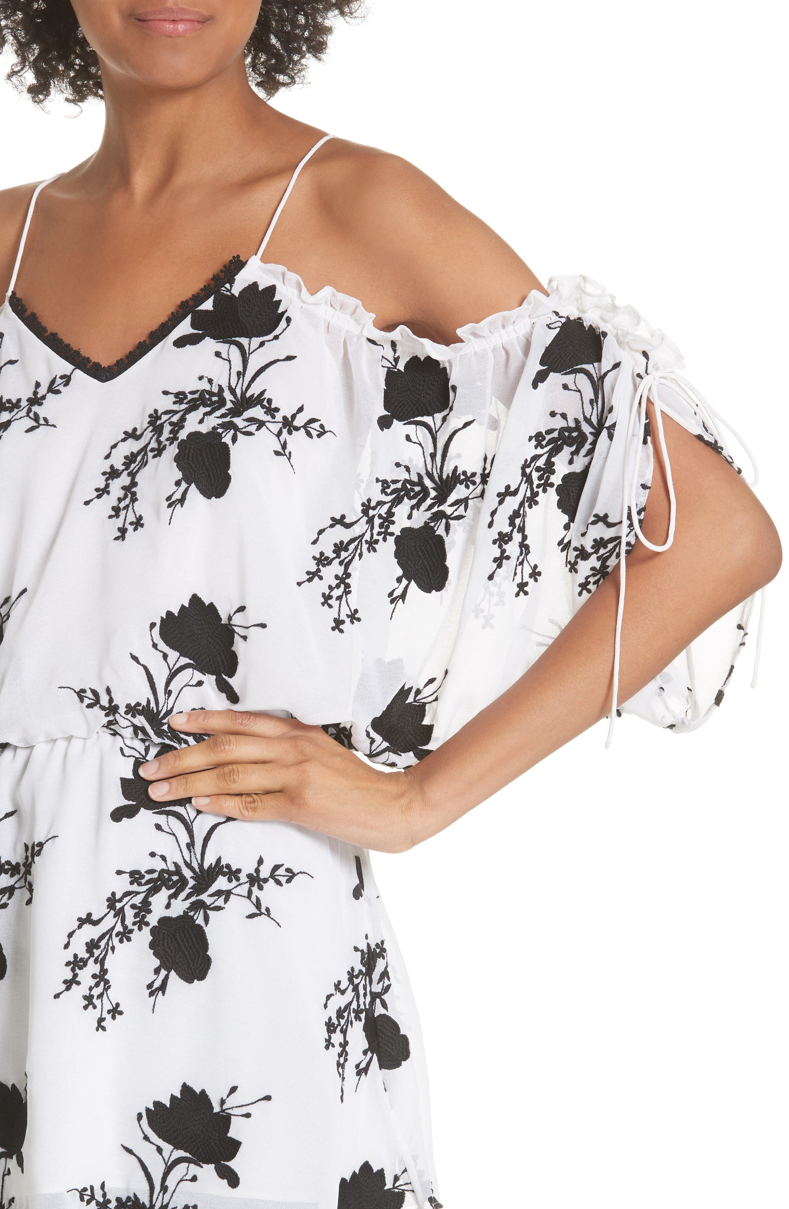 Holden Embroidery Drop Waist Blouse,                             Alternate thumbnail 4, color,