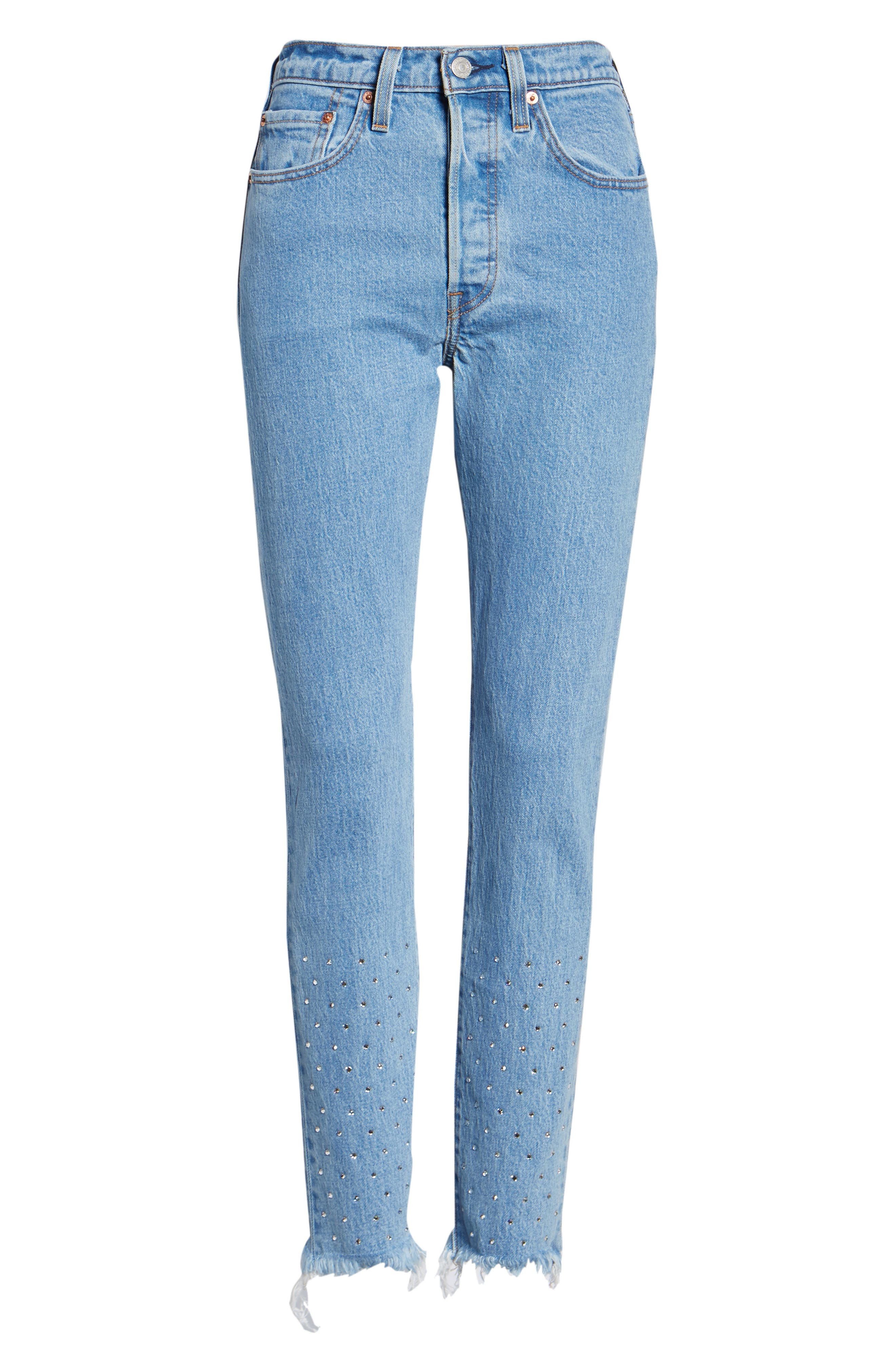 501<sup>®</sup> High Waist Skinny Jeans,                             Alternate thumbnail 7, color,                             420