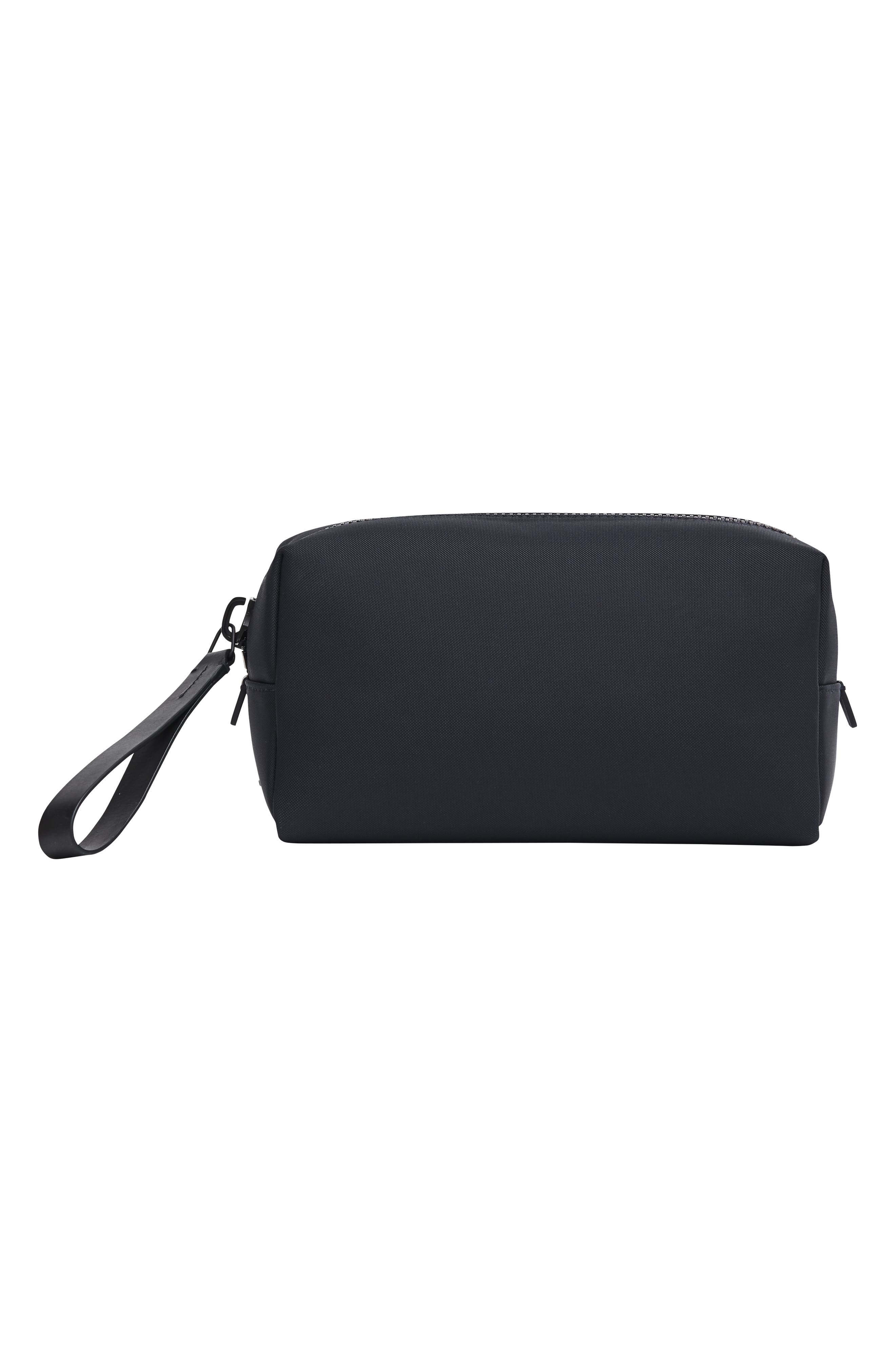Nylon Dopp Kit,                             Alternate thumbnail 9, color,                             BLACK NYLON/ BLACK LEATHER