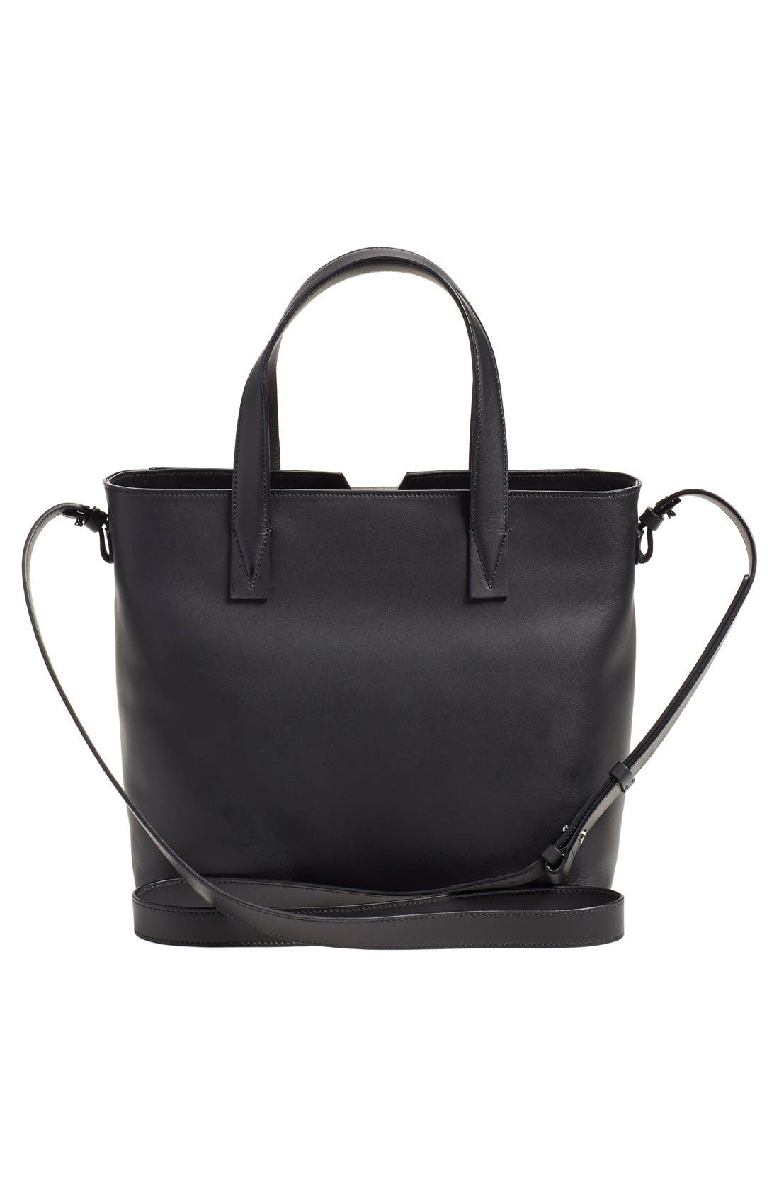 'Baby Signature V' CrocEmbossed Tote,                             Alternate thumbnail 2, color,                             001