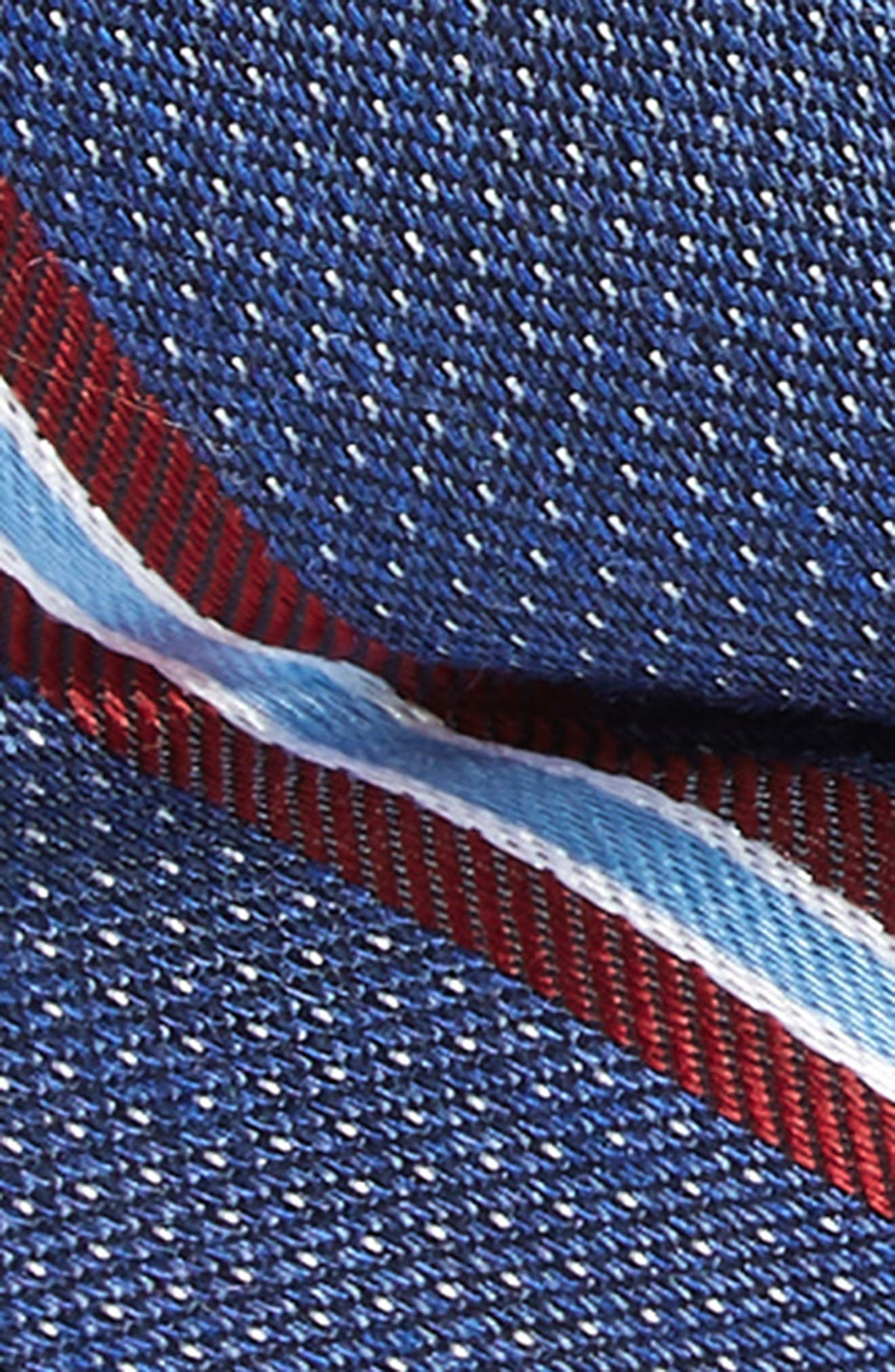 Stripe Silk Blend Bow Tie,                             Alternate thumbnail 2, color,                             BLUE