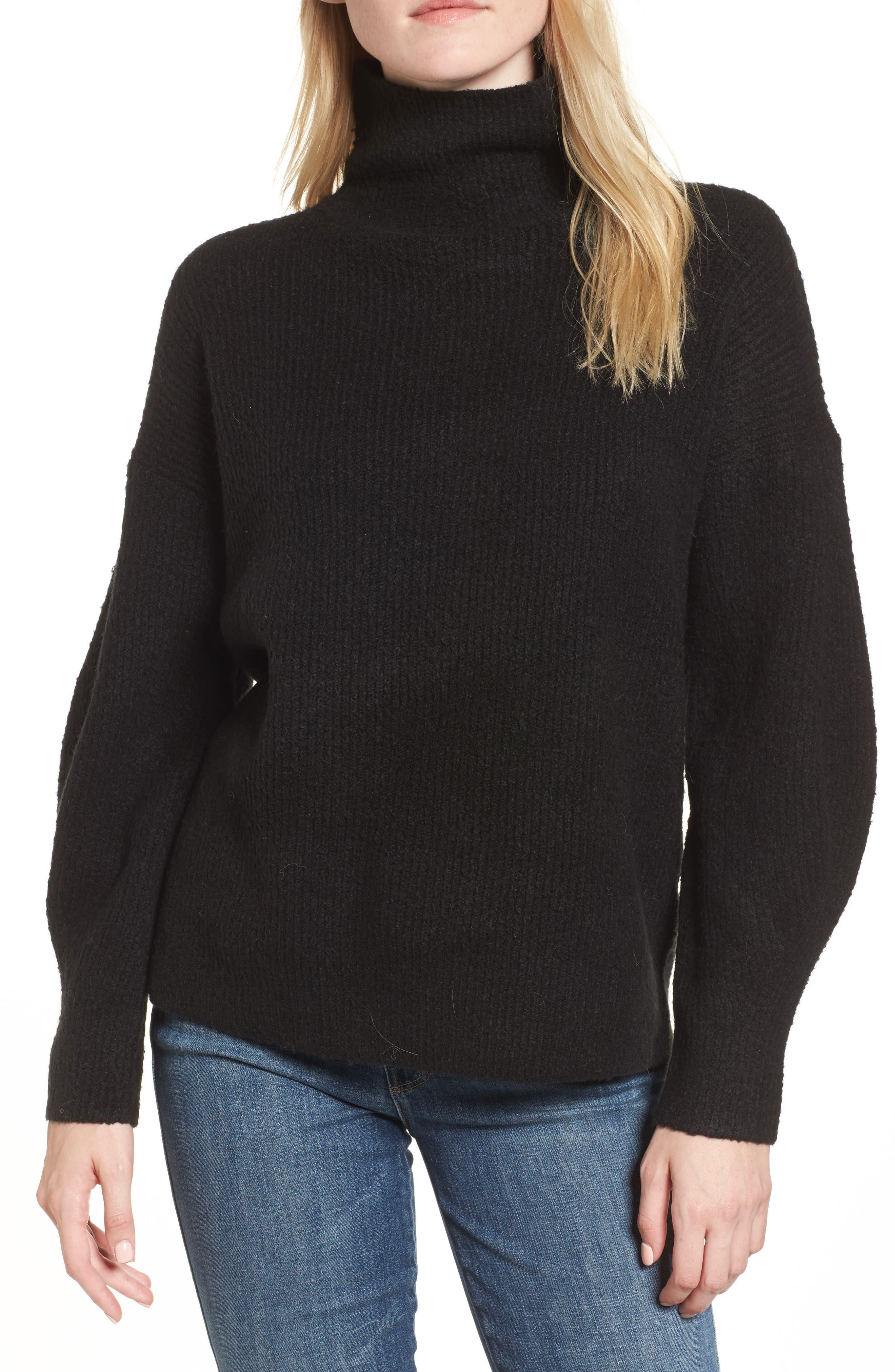 Urban Flossy Turtleneck Sweater,                         Main,                         color, 001