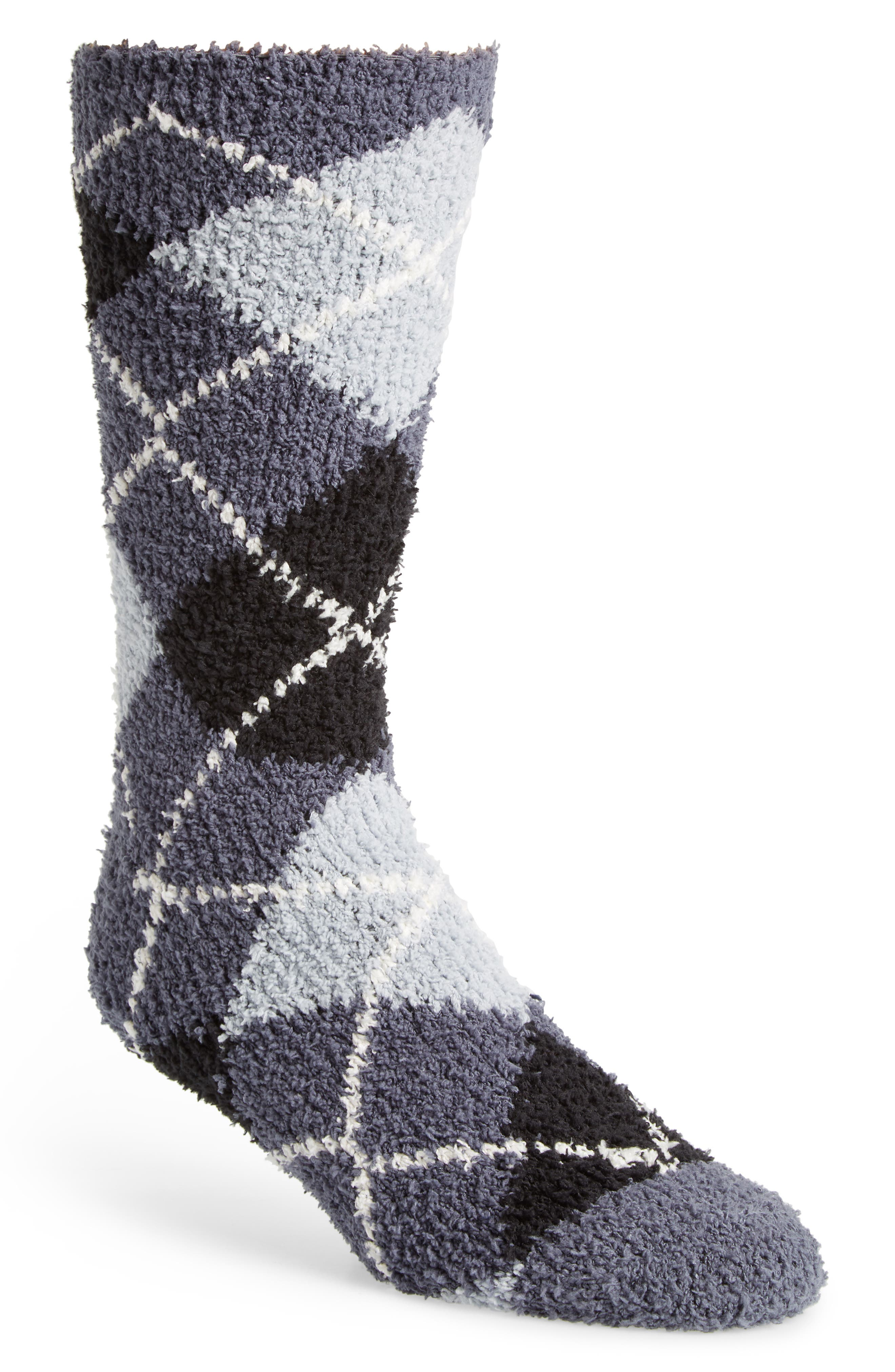 Classic Argyle Butter Socks,                             Main thumbnail 1, color,                             CHARCOAL/ BLACK