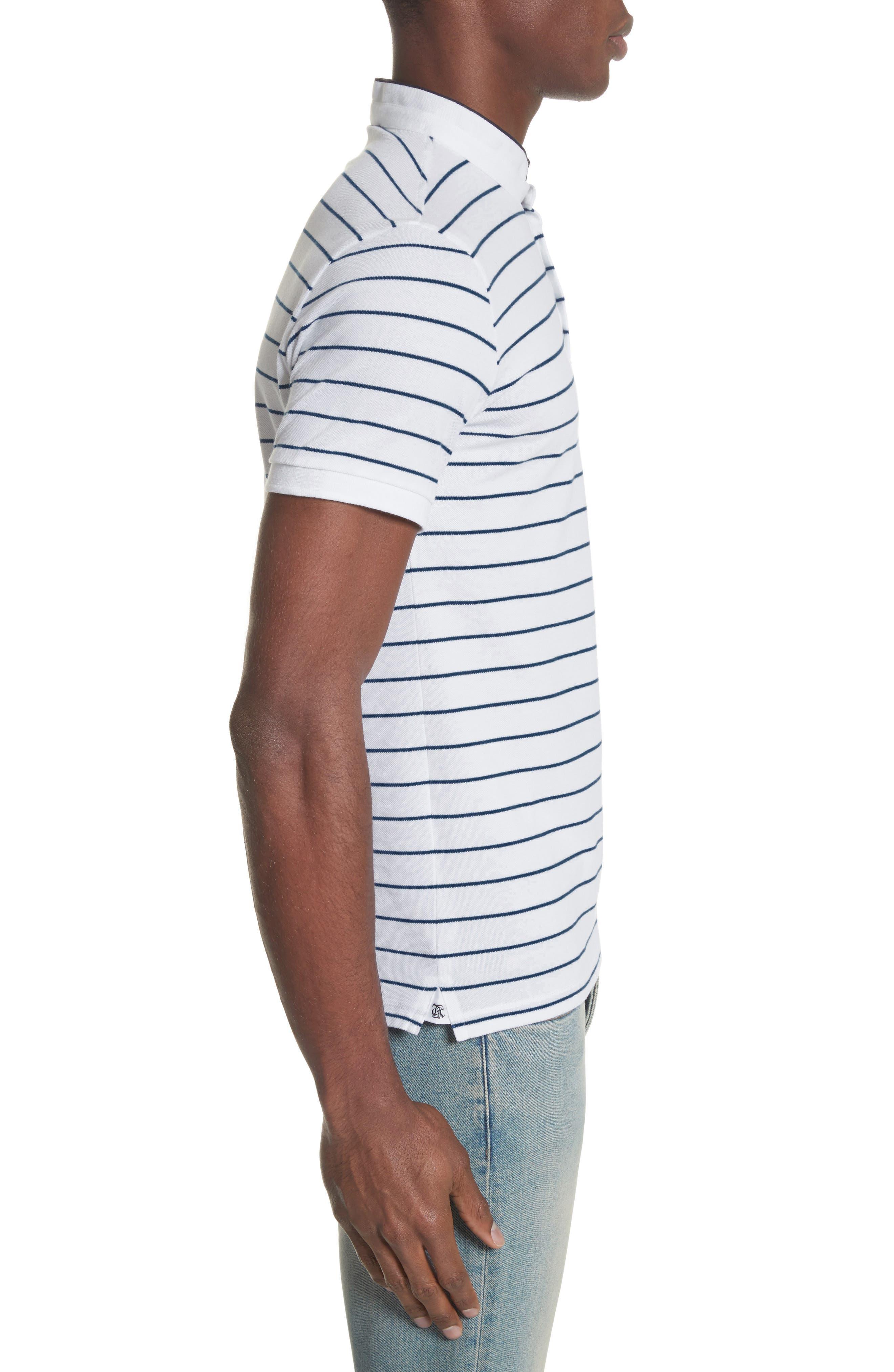 Stripe Officer Polo Shirt,                             Alternate thumbnail 3, color,                             100