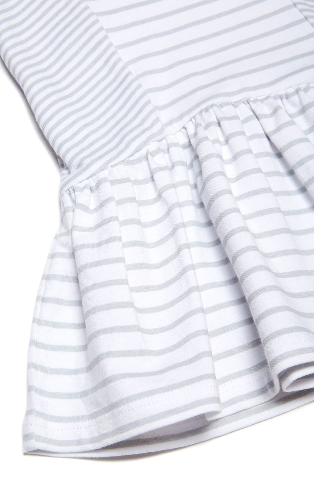 Stripe Sleeveless Dress,                             Alternate thumbnail 3, color,                             188