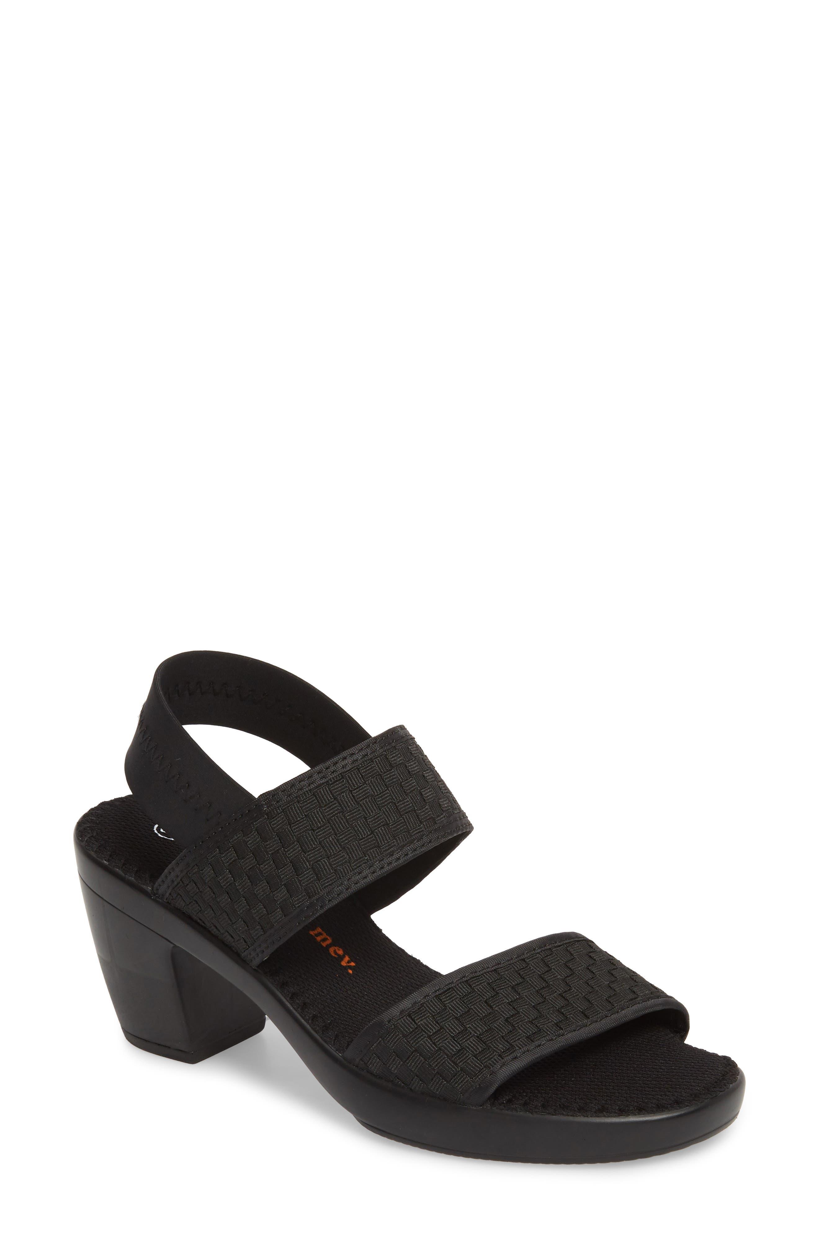 Santorini Sandal,                         Main,                         color, BLACK FABRIC