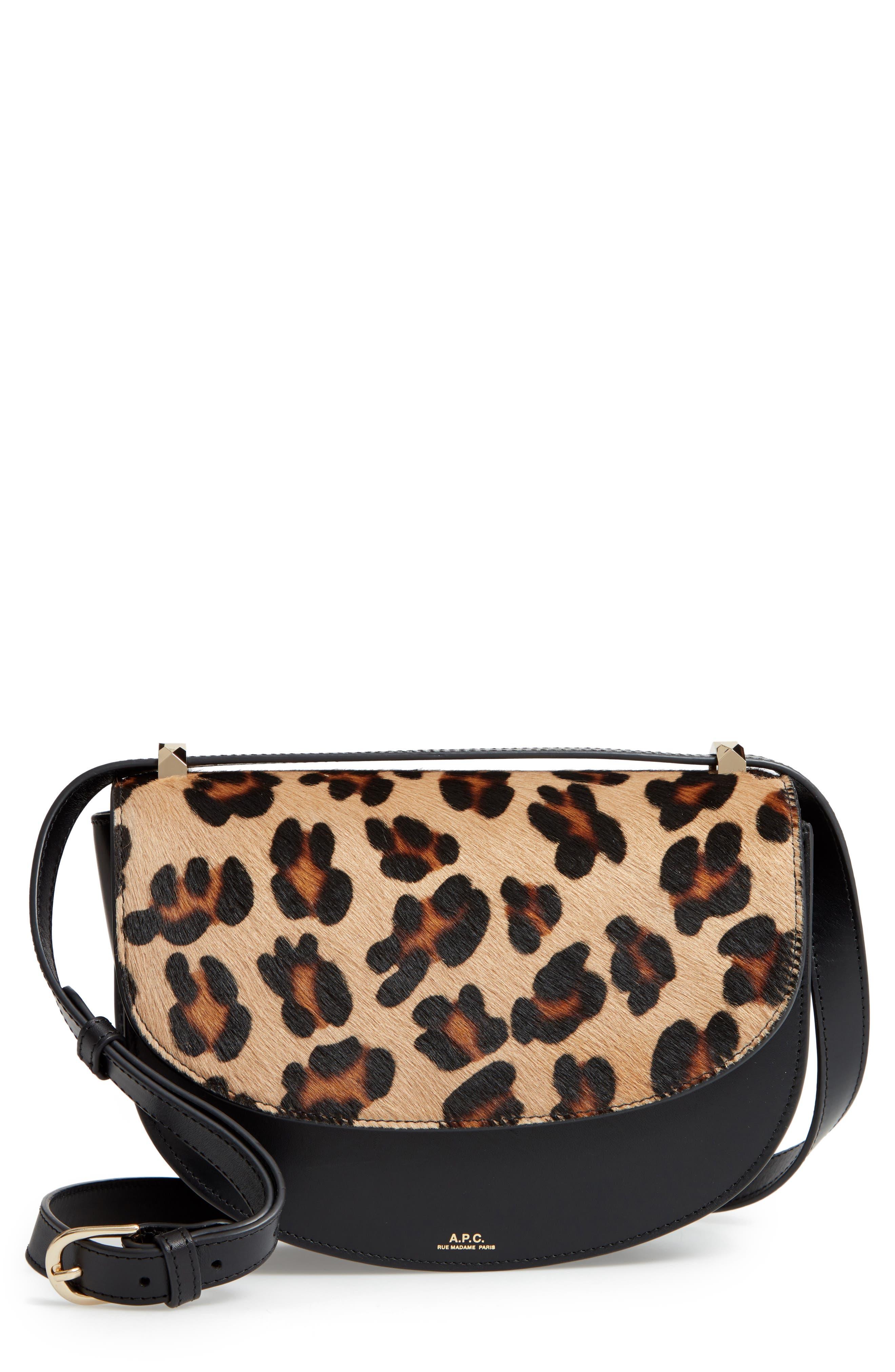 Sac Lausanne Genuine Calf Hair & Leather Crossbody Bag,                         Main,                         color, NOIR LZZ
