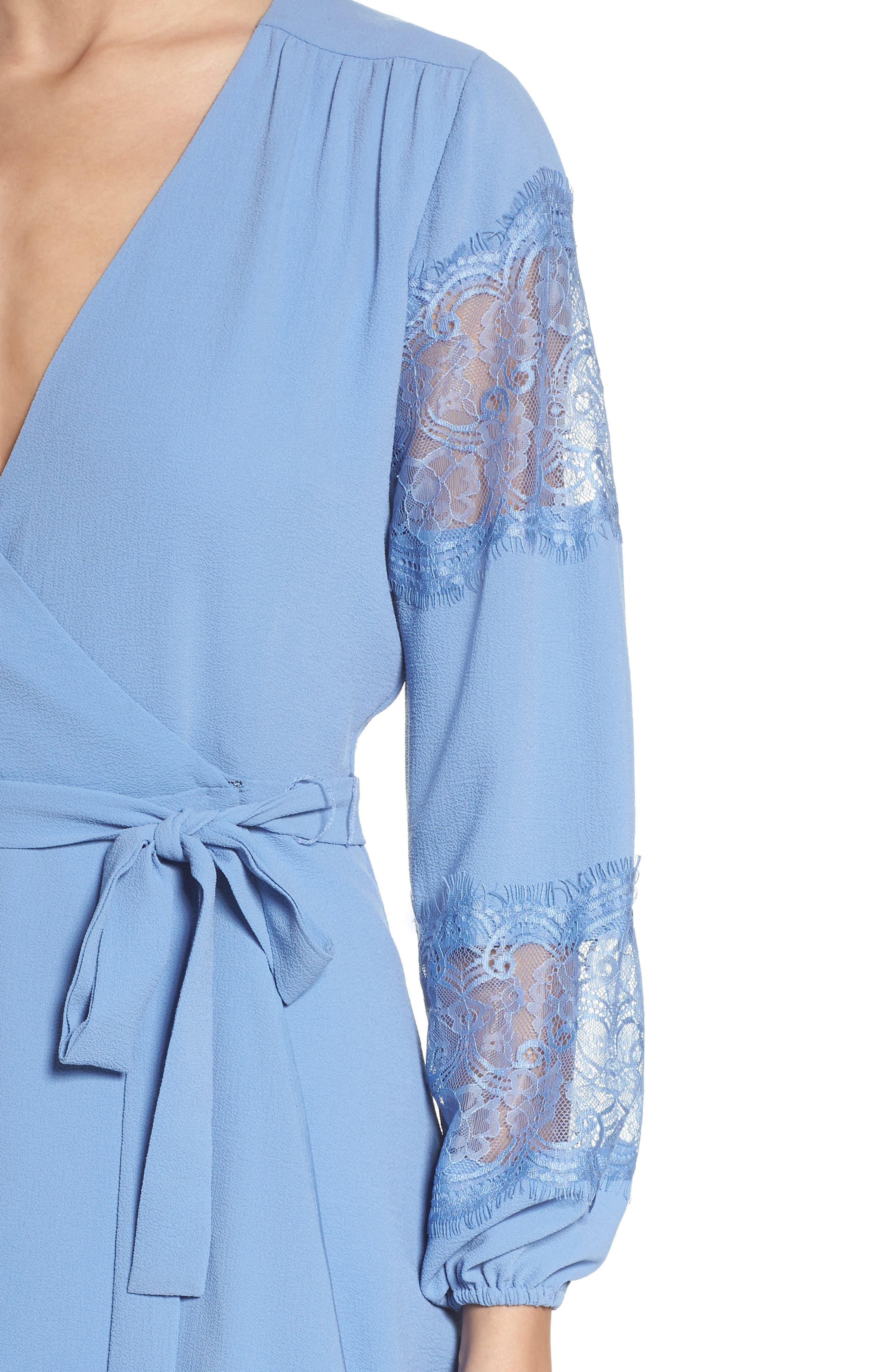 Lauryl Wrap Dress,                             Alternate thumbnail 4, color,                             450