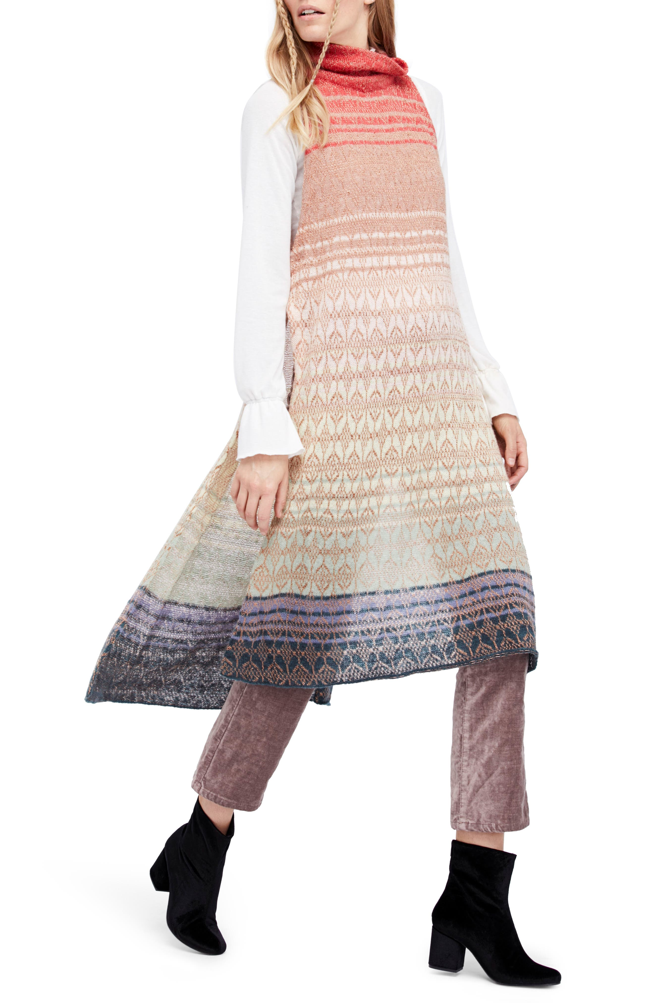 Rainbow Tunic Dress,                             Main thumbnail 1, color,                             907