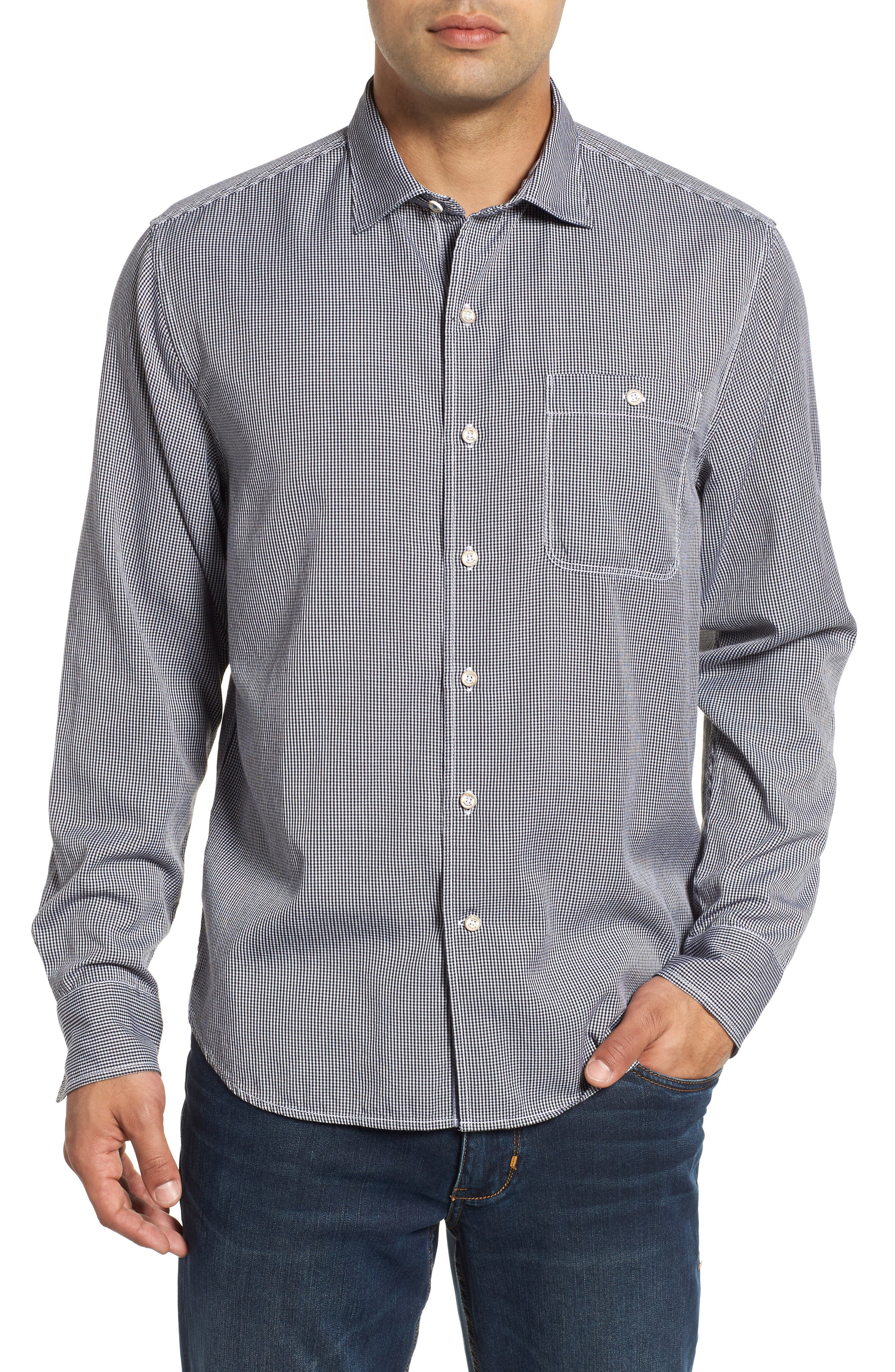 Twilly Check Sport Shirt,                         Main,                         color, BLACK