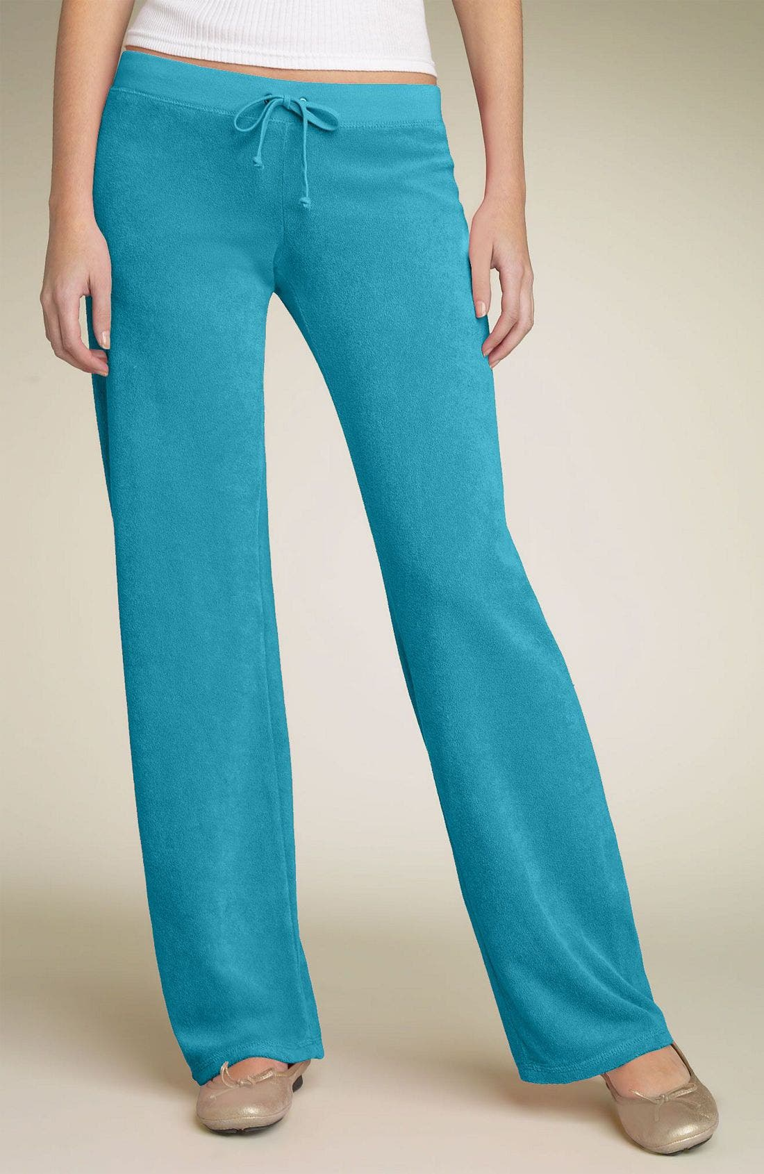 Terry Cloth Drawstring Pants, Main, color, CFL
