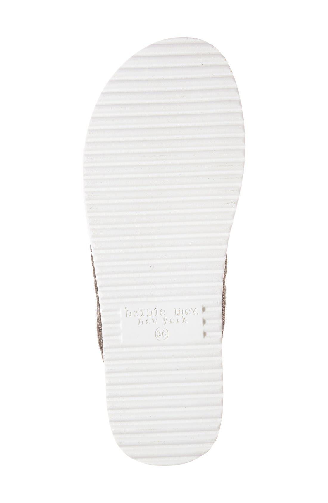 'Crisp' Woven Platform Sandal,                             Alternate thumbnail 4, color,                             BRONZE FABRIC