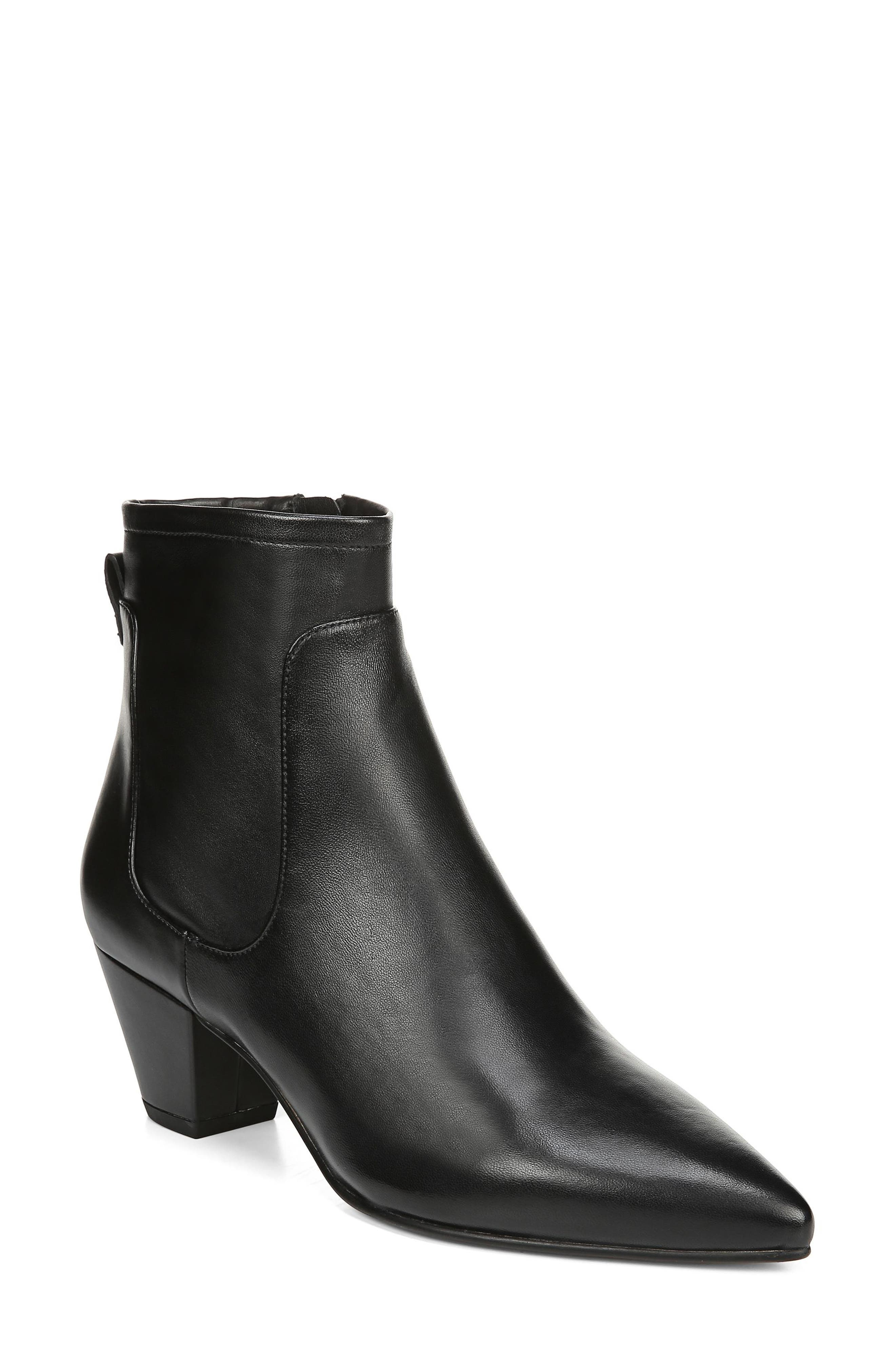 Karlee Bootie,                             Main thumbnail 1, color,                             BLACK LEATHER