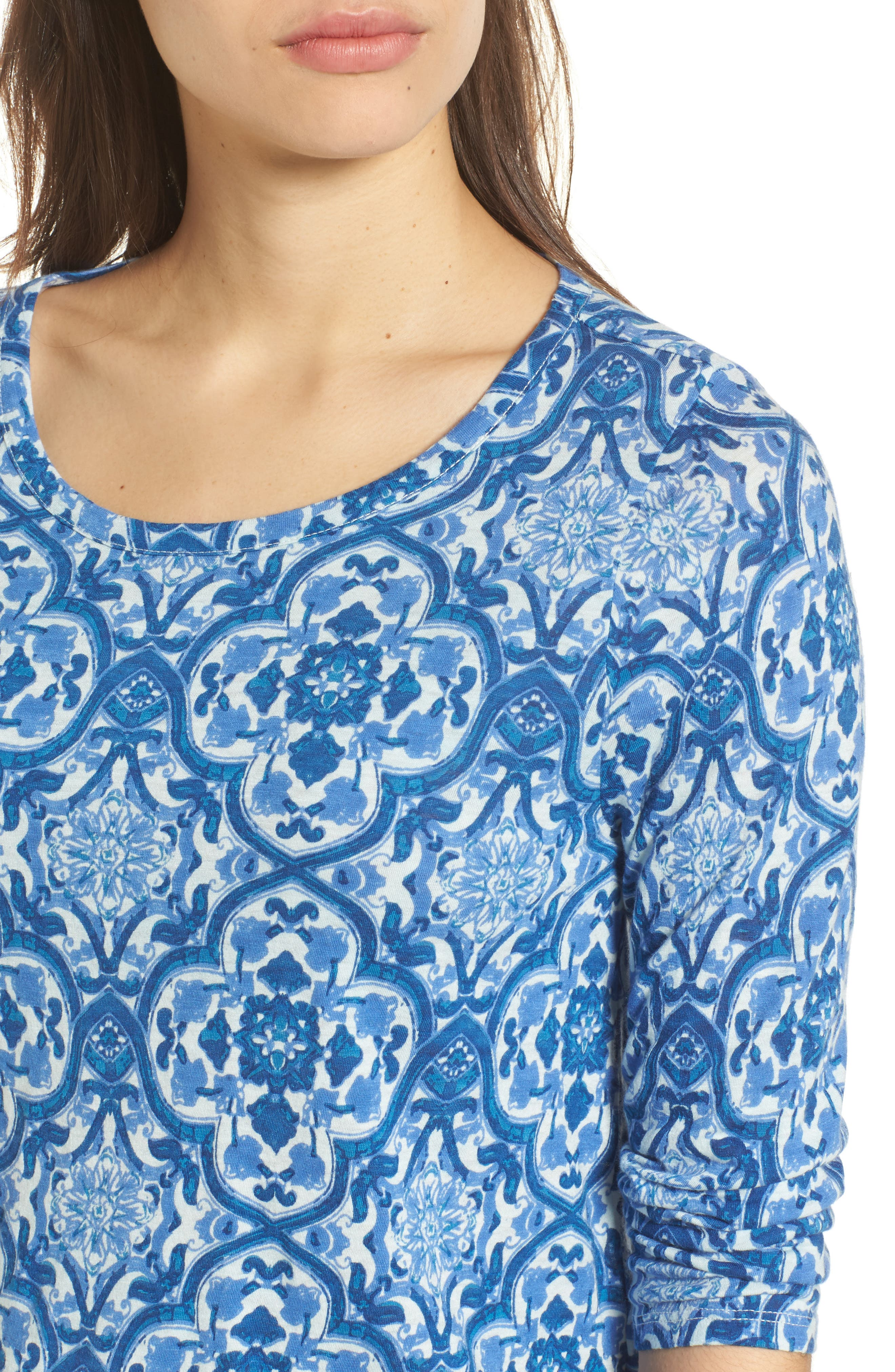 All Over Print Cotton Blend Top,                             Alternate thumbnail 4, color,                             460
