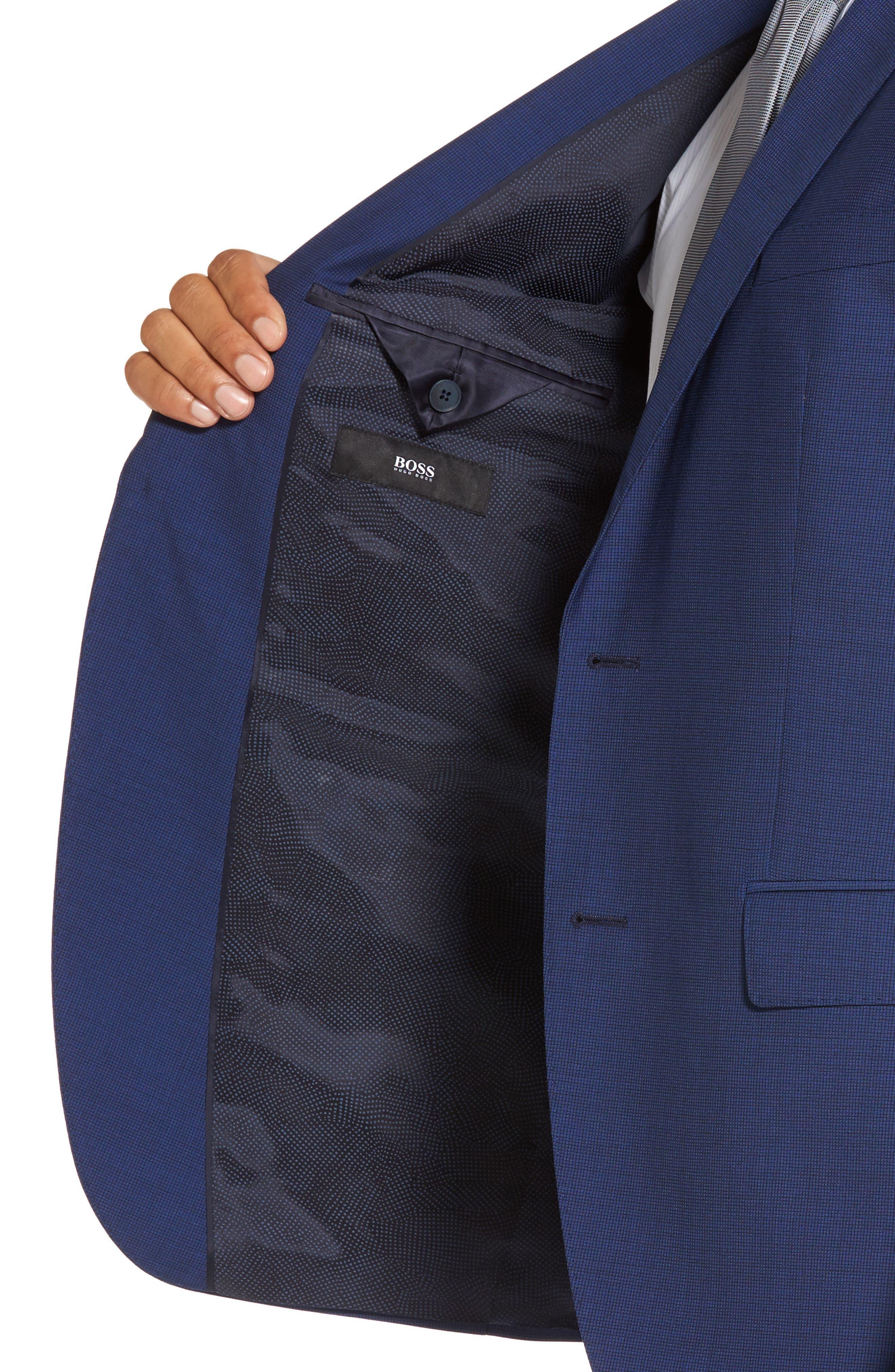 Trim Fit Solid Wool Suit,                             Alternate thumbnail 4, color,                             430