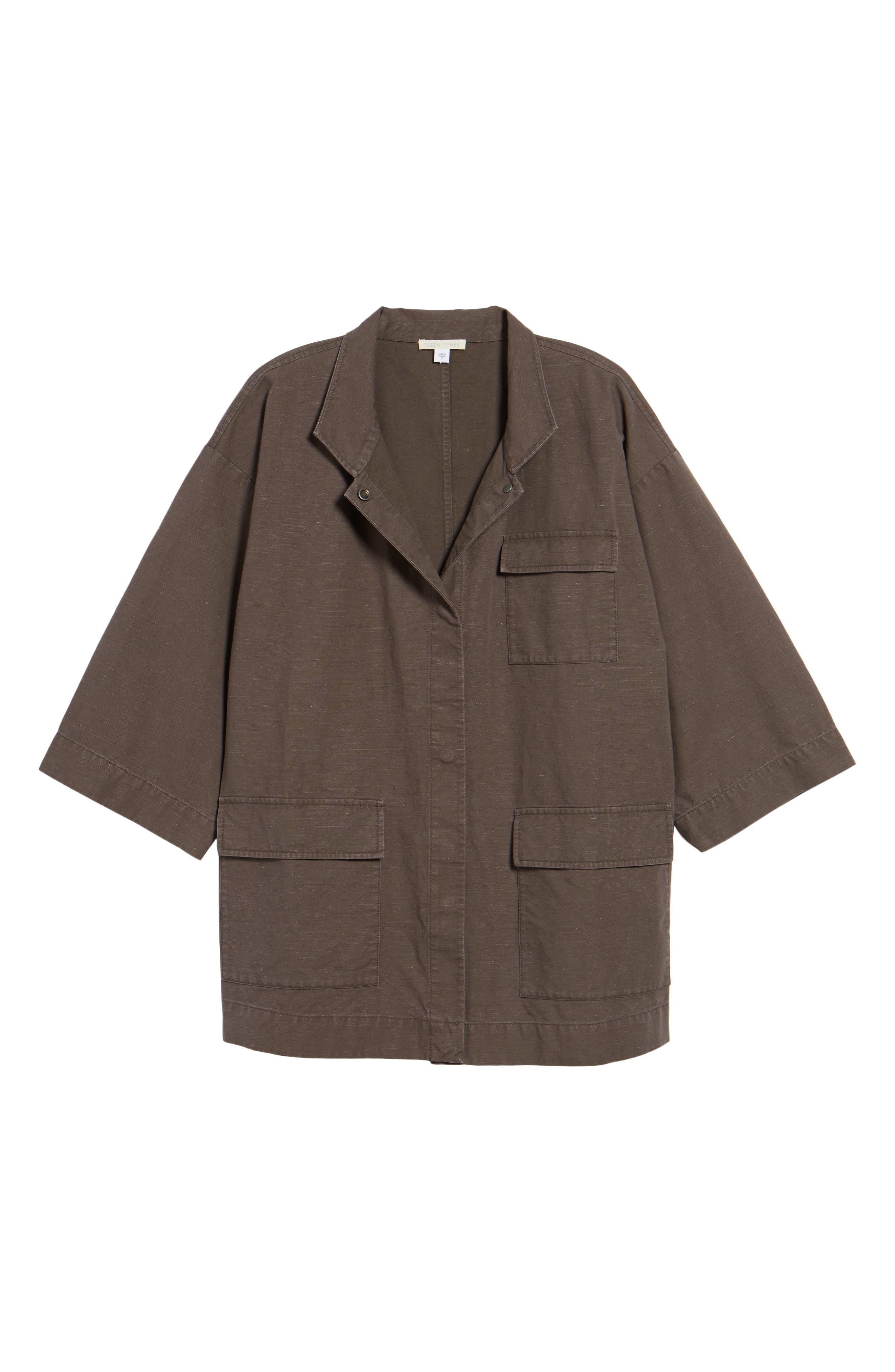 Organic Cotton & Hemp Jacket,                             Alternate thumbnail 5, color,                             024
