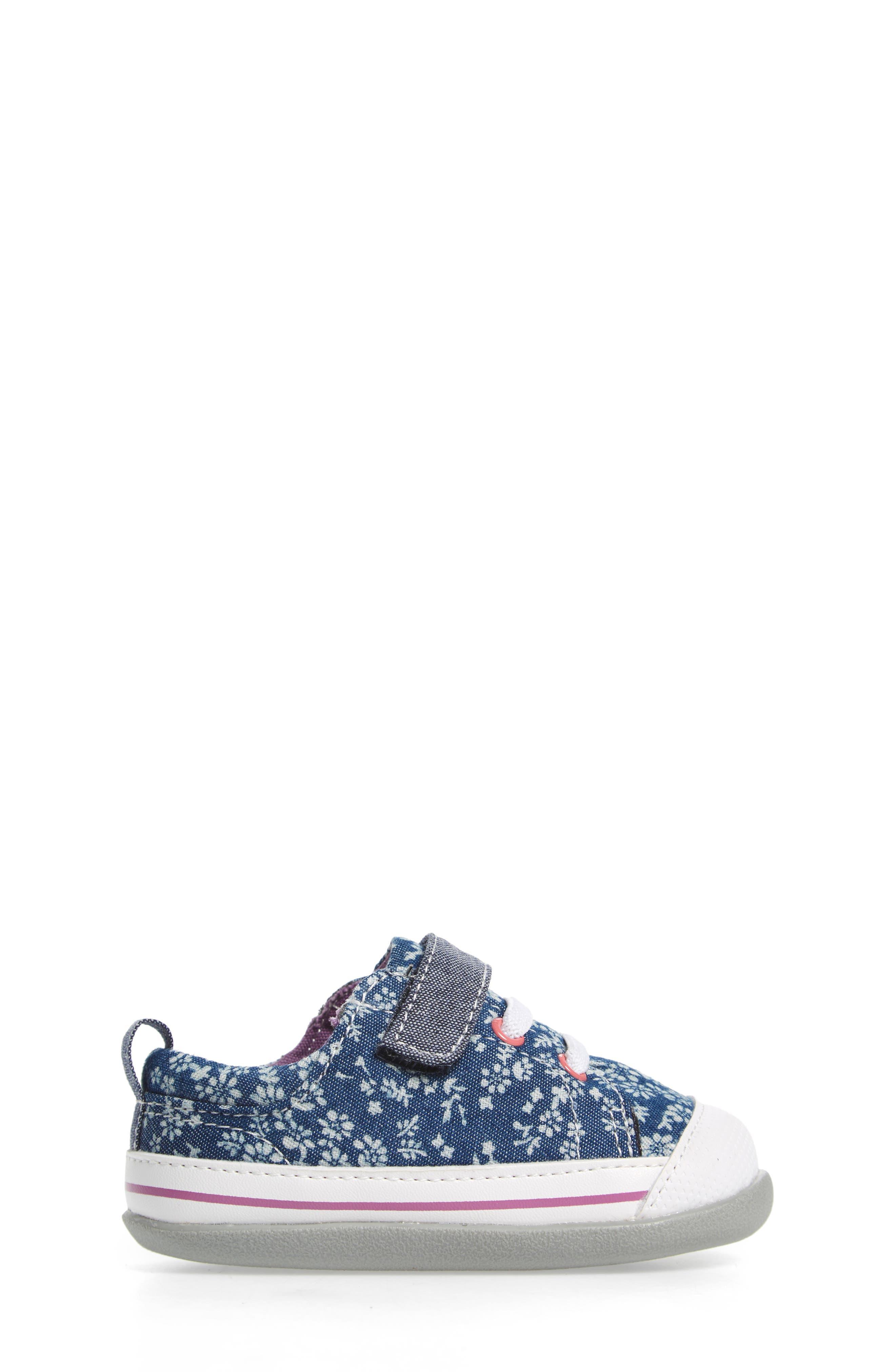 Stevie II Sneaker,                             Alternate thumbnail 3, color,                             BLUE FLOWERS