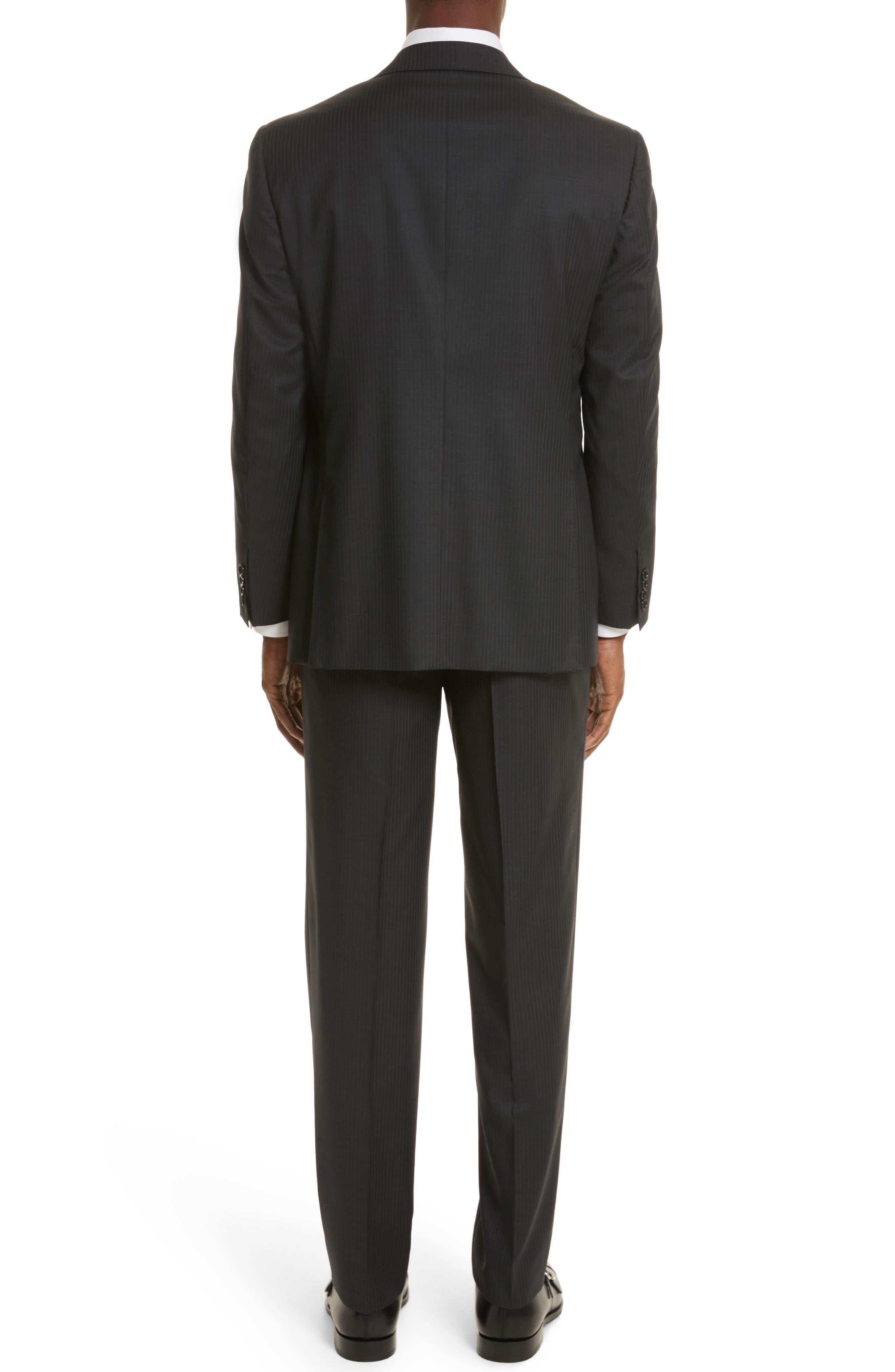 Classic Fit Stripe Wool Suit,                             Alternate thumbnail 2, color,                             020