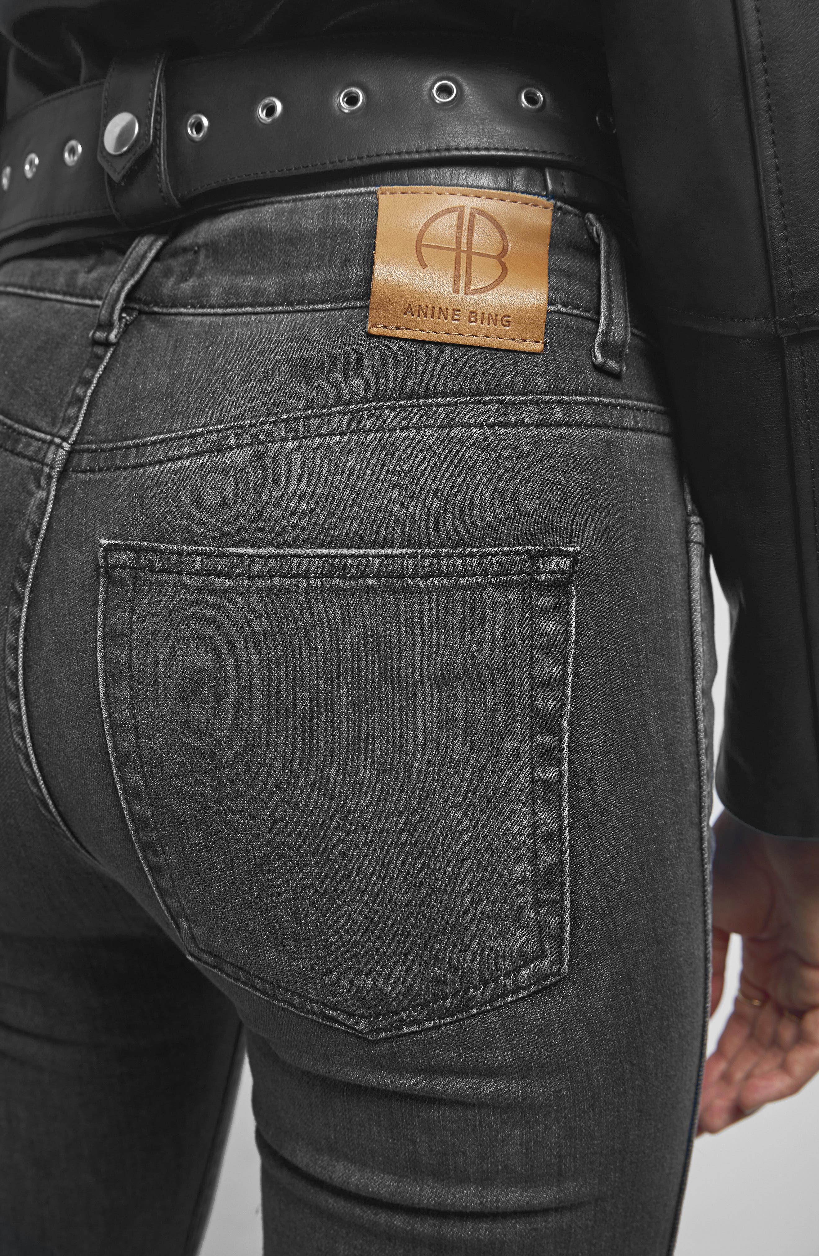 Kara Skinny Jeans,                             Alternate thumbnail 4, color,                             CHARCOAL