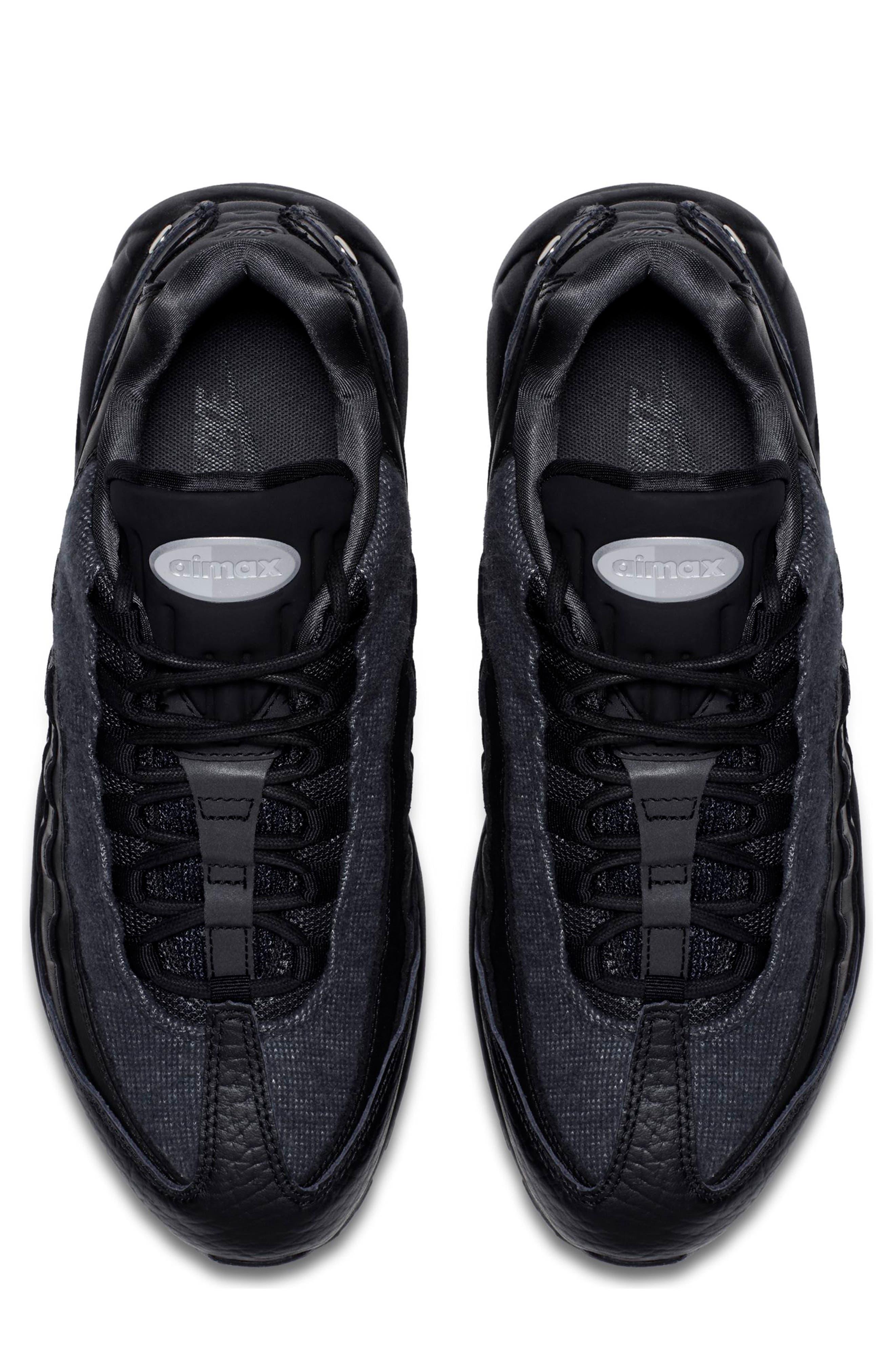 Air Max 95 NRG Sneaker,                             Alternate thumbnail 4, color,                             BLACK/ TEAM RED/ ANTHRACITE