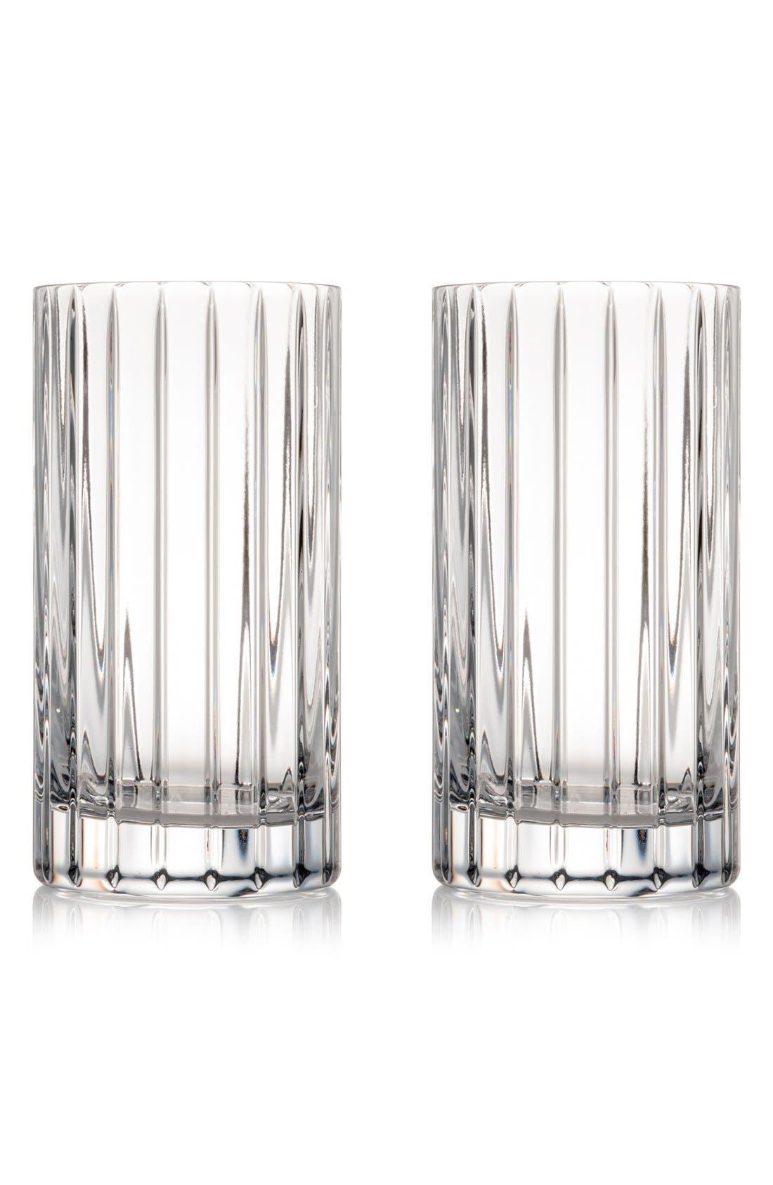 'Avenue' Lead Crystal Highball Glasses,                             Main thumbnail 1, color,                             100