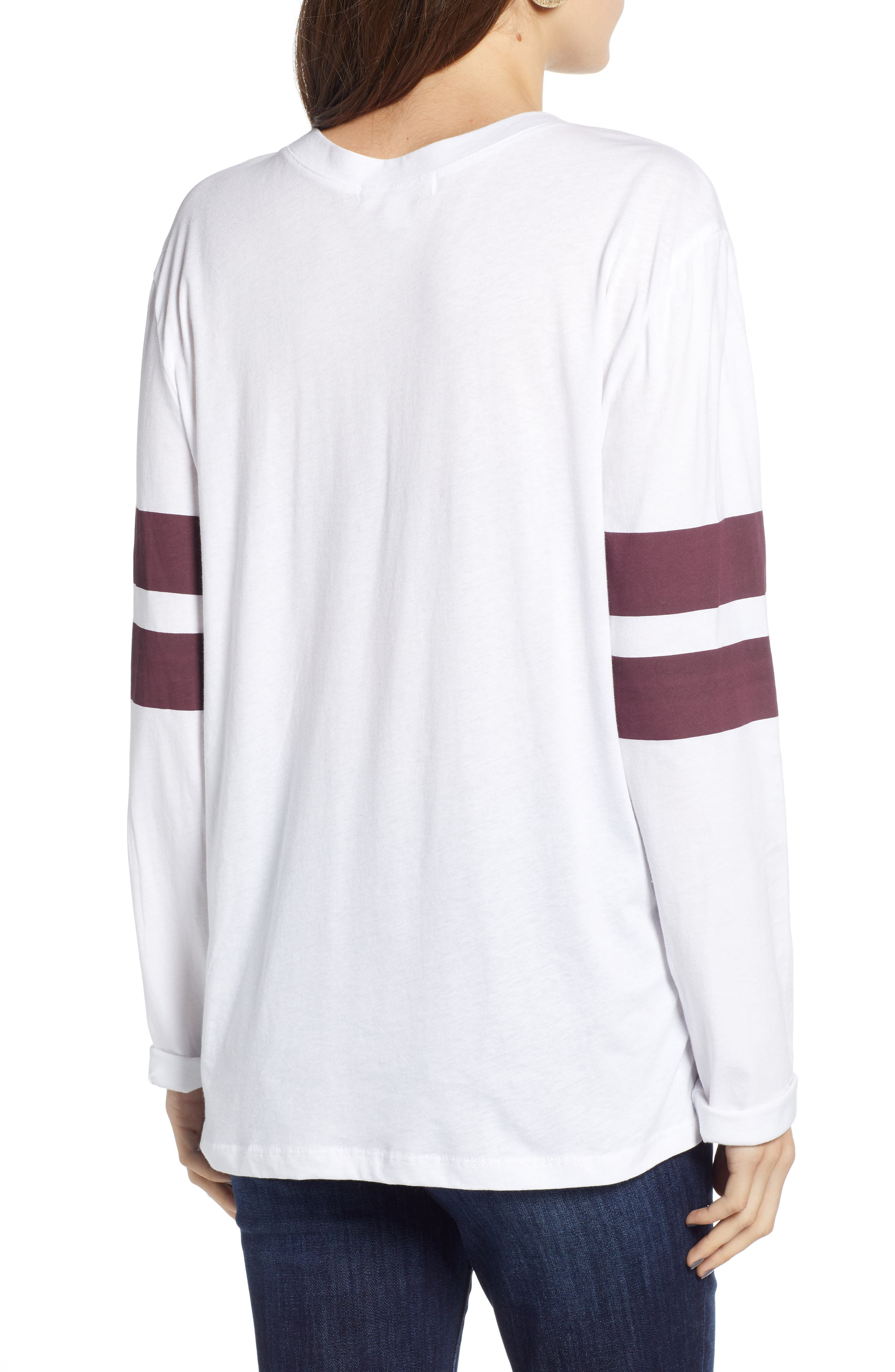 Varsity Stripe Cotton Tee,                             Alternate thumbnail 29, color,