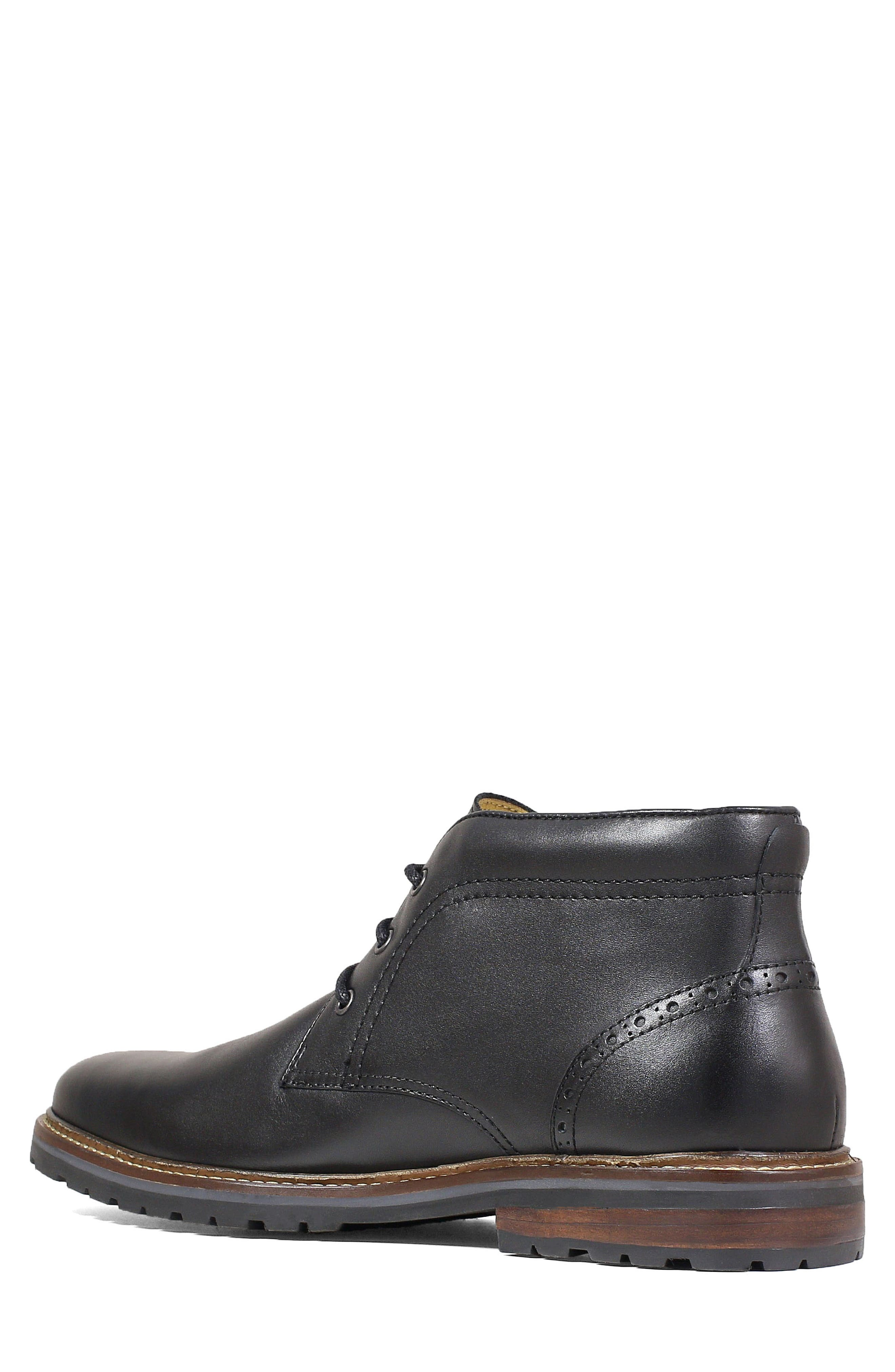 Estabrook Lugged Chukka Boot,                             Alternate thumbnail 2, color,                             BLACK LEATHER