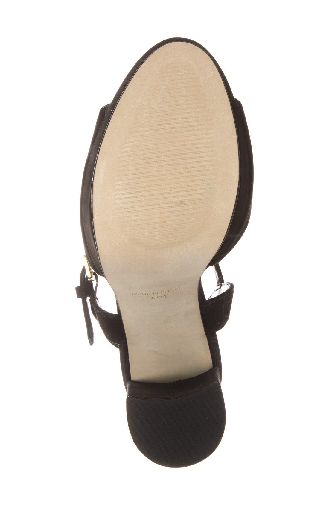 'Kierra' Platform Sandal,                             Alternate thumbnail 4, color,                             005