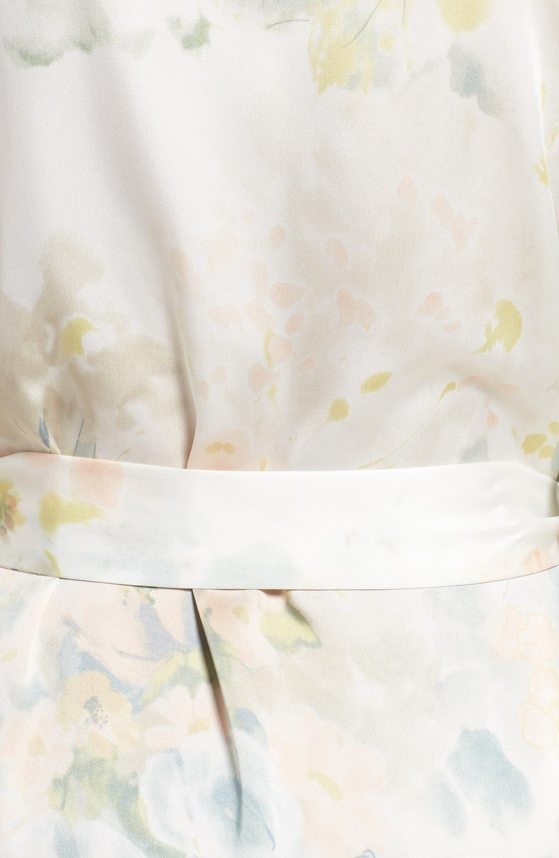 Isabella Floral Print Kimono Robe,                             Alternate thumbnail 5, color,                             110