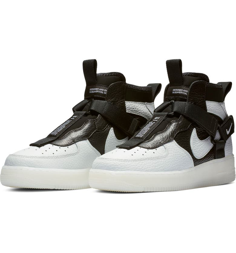 the best attitude 1ac2d 5eb82 NIKE Air Force 1 Utility Mid Sneaker, Main, color, OFF WHITE BLACK