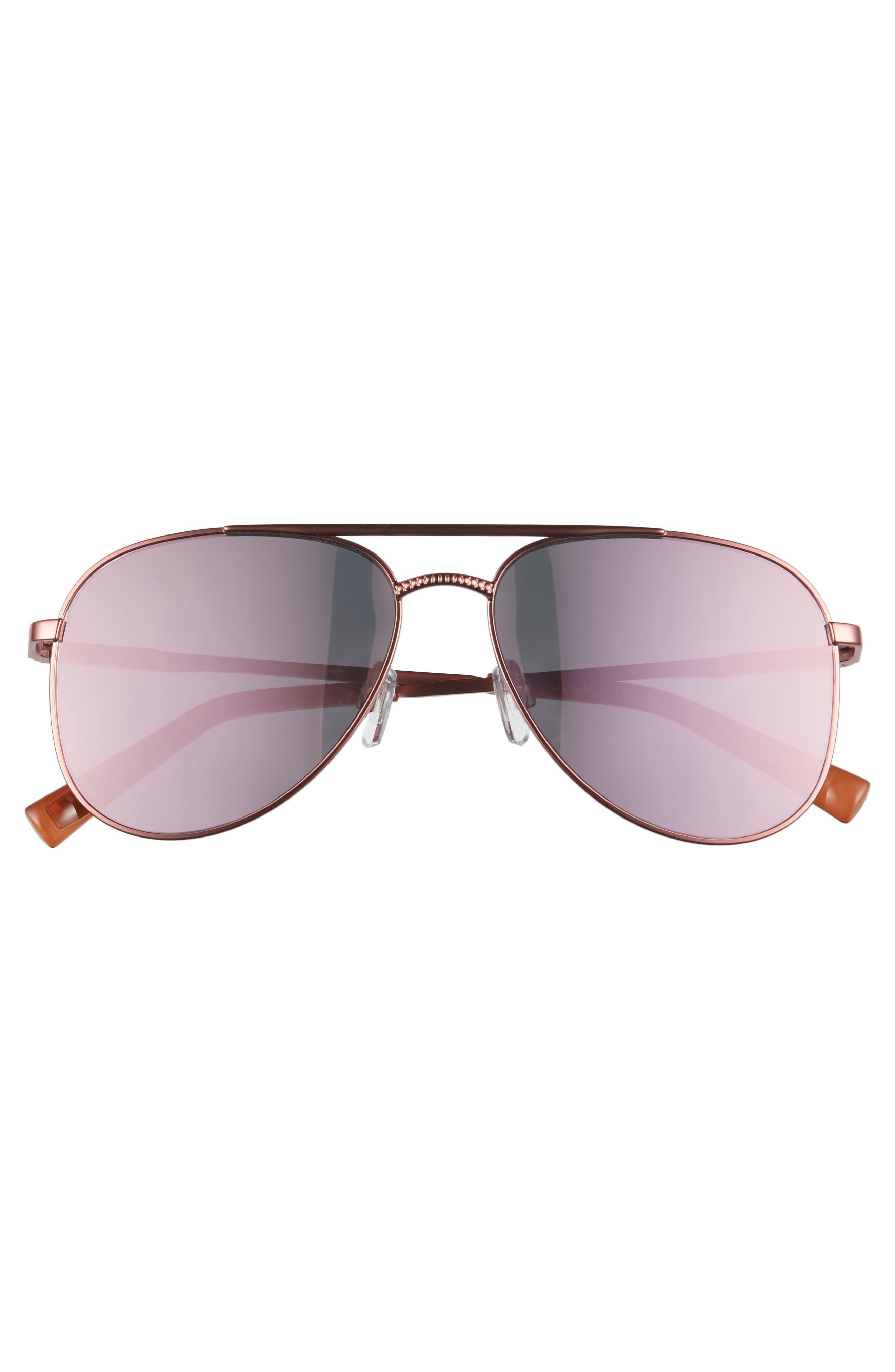 Kingdom 57mm Polarized Aviator Sunglasses,                             Alternate thumbnail 3, color,                             650
