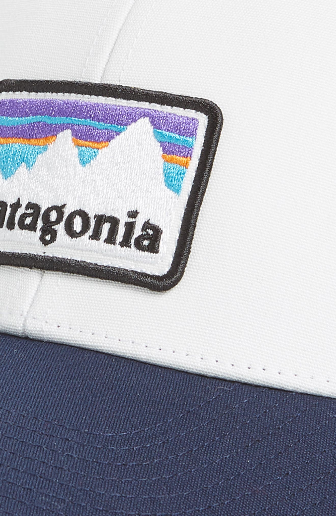 Shop Sticker Trucker Hat,                             Alternate thumbnail 3, color,                             WHITE WITH CLASSIC NAVY