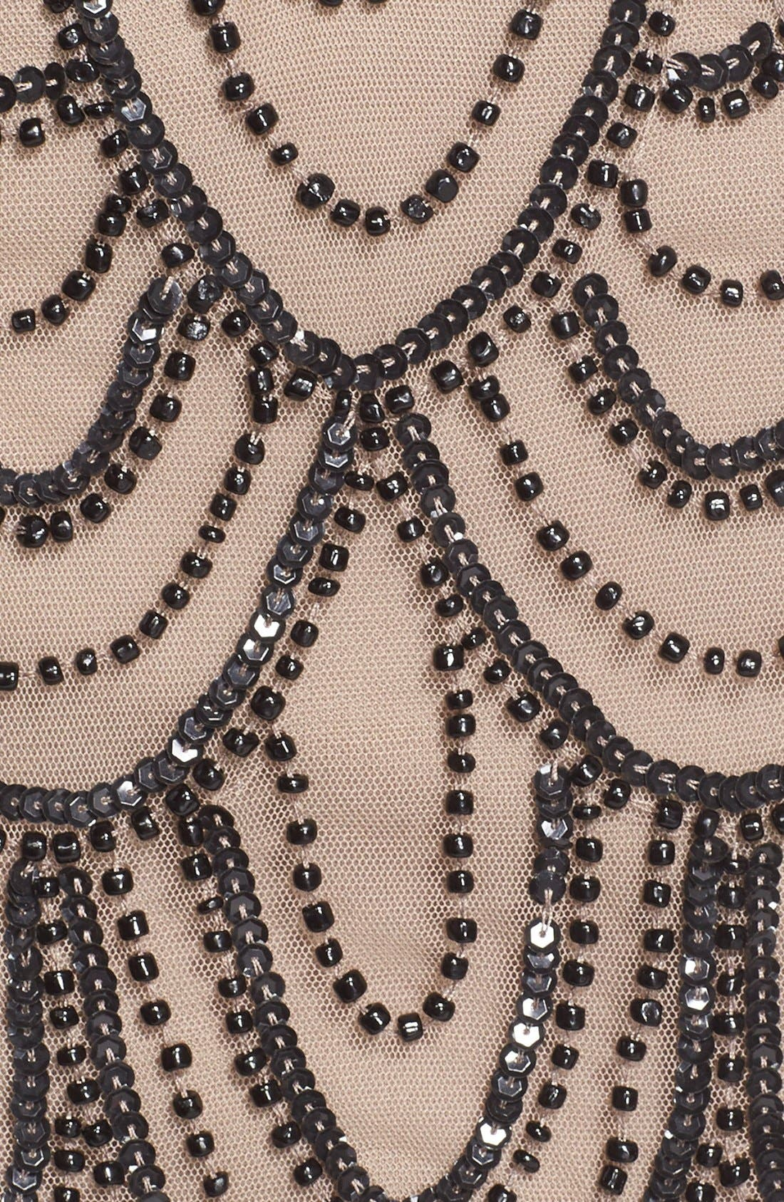 Embellished Mesh Sheath Dress,                             Alternate thumbnail 99, color,