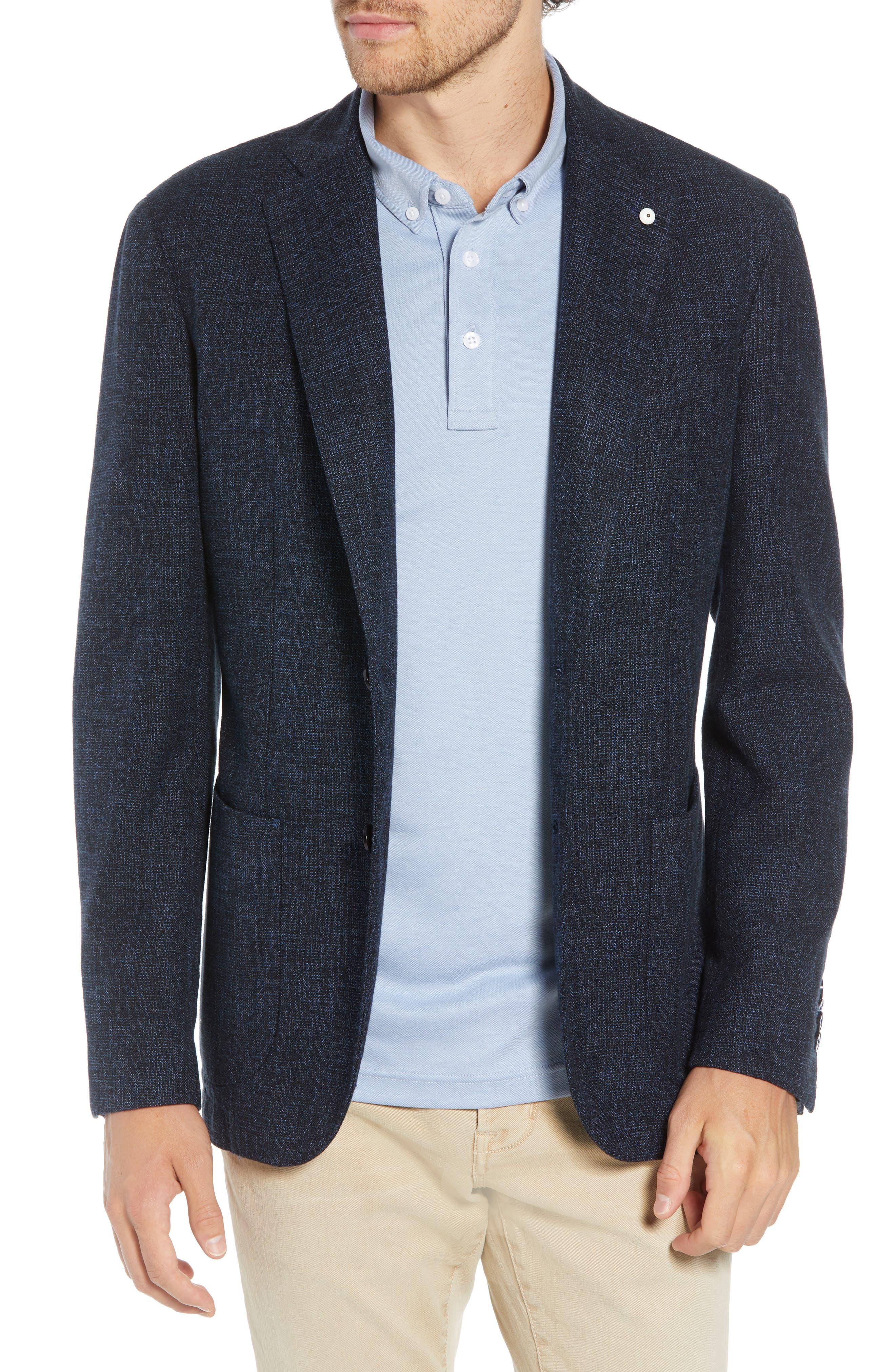 L.B.M. L.B.M 1911 Classic Fit Cotton & Wool Sport Coat in Blue