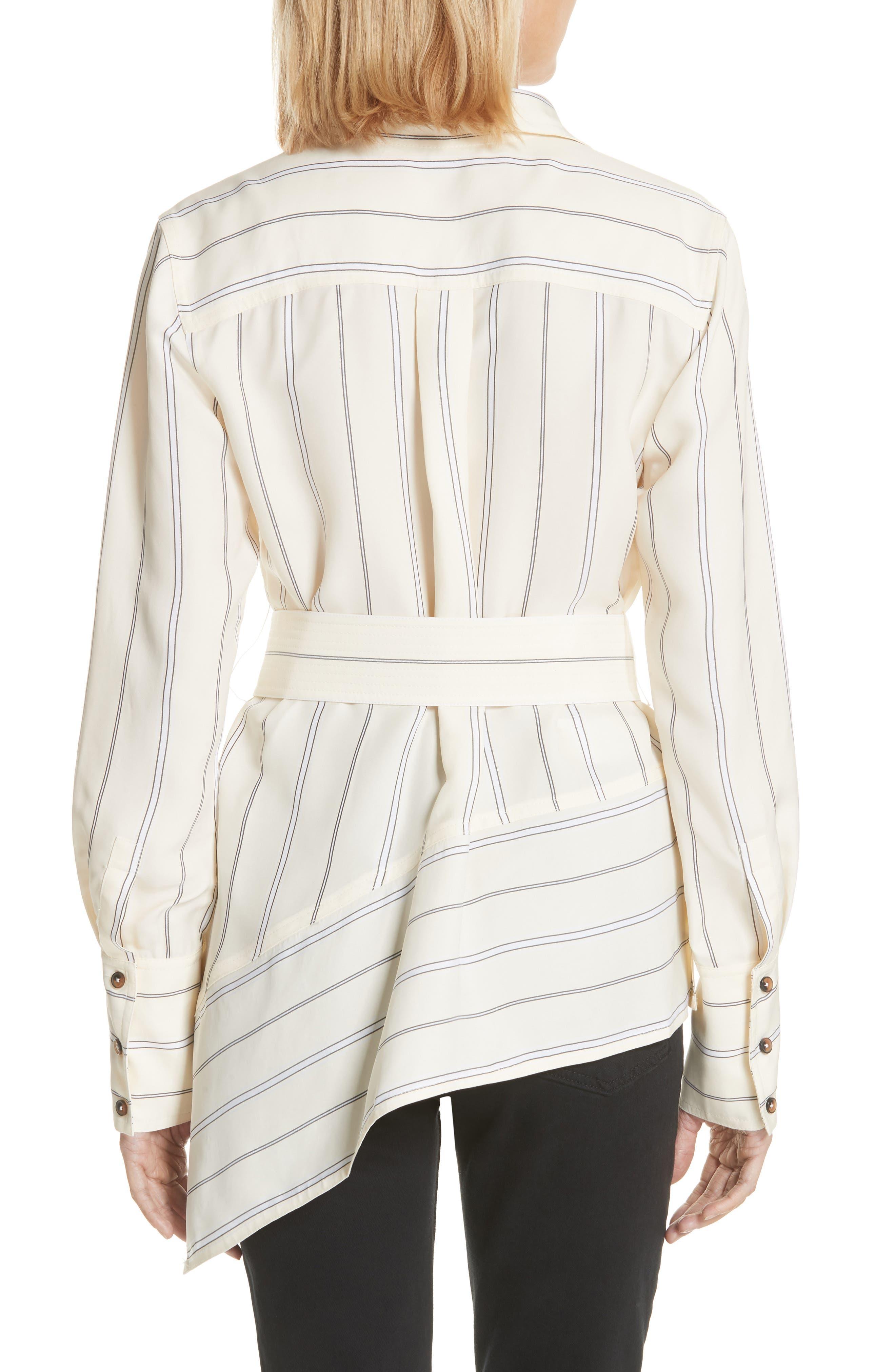 Asymmetrical Stripe Shirt,                             Alternate thumbnail 2, color,