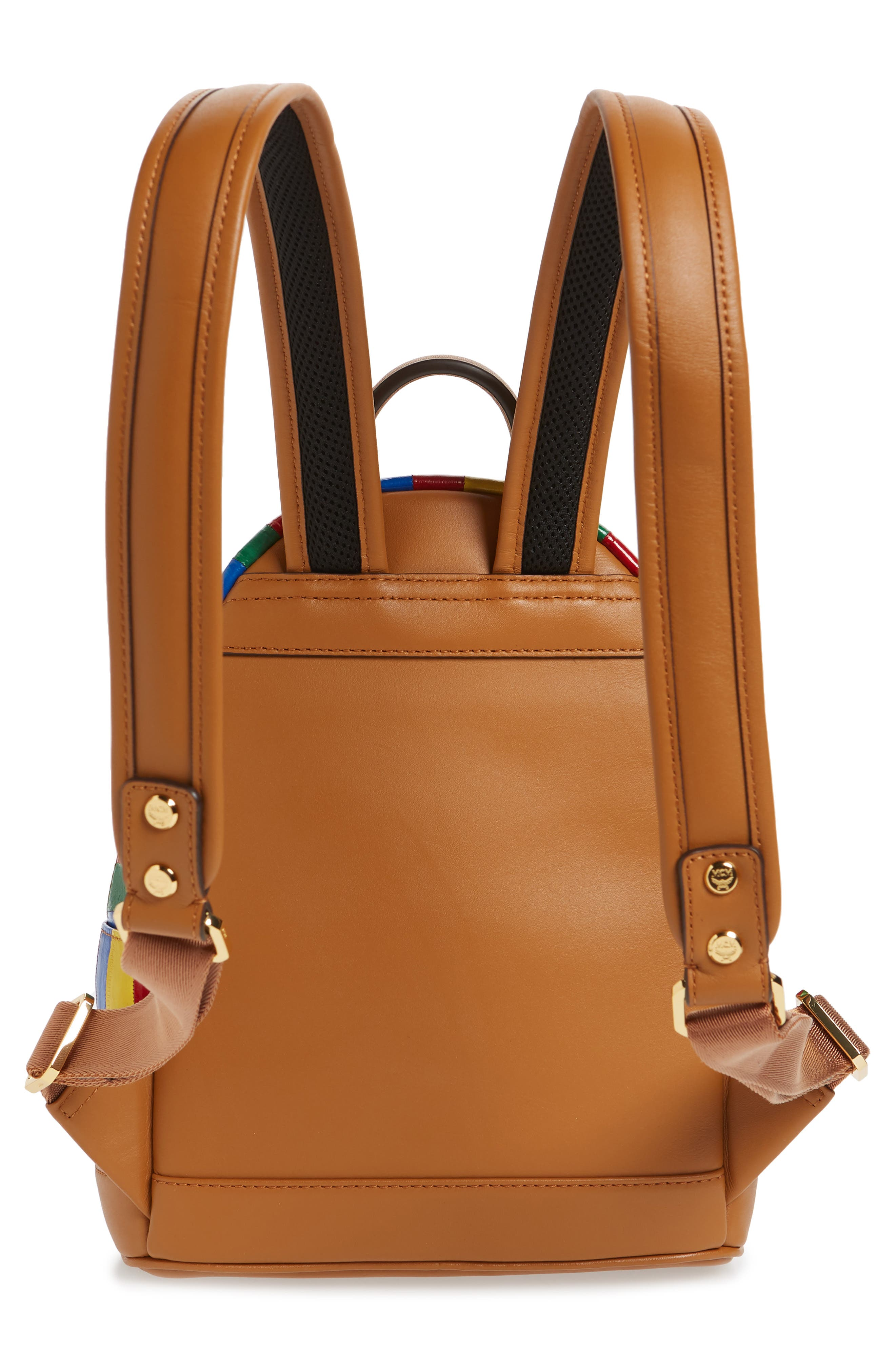 Mini Leather Backpack,                             Alternate thumbnail 3, color,                             MULTI