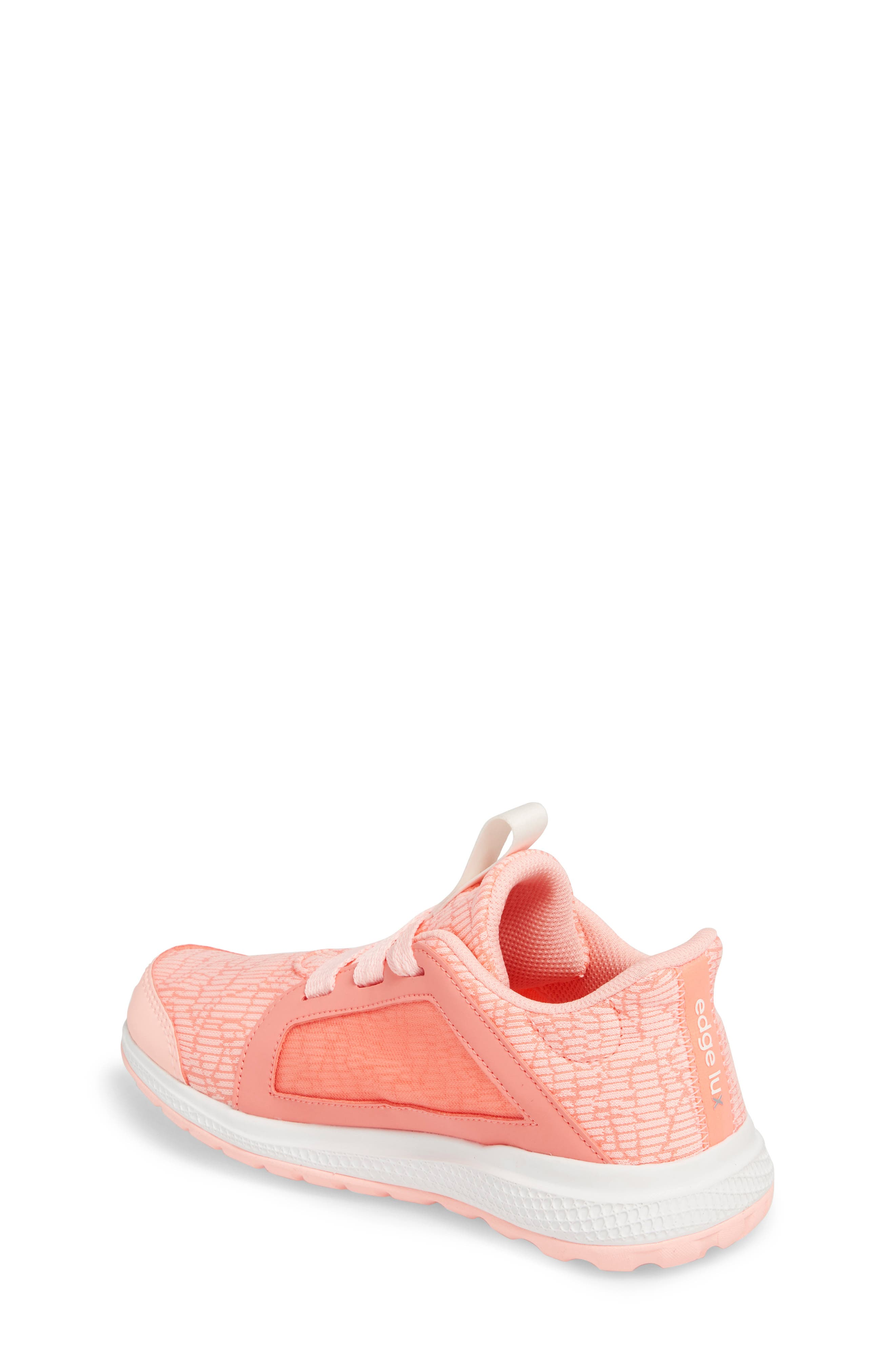 Edge Lux Running Shoe,                             Alternate thumbnail 2, color,                             CHALK CORAL/ WHITE/ ORANGE