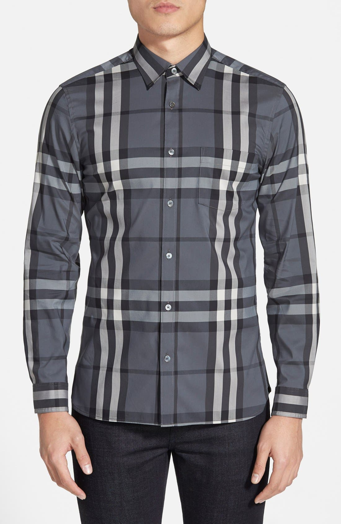 Nelson Check Sport Shirt,                             Main thumbnail 2, color,