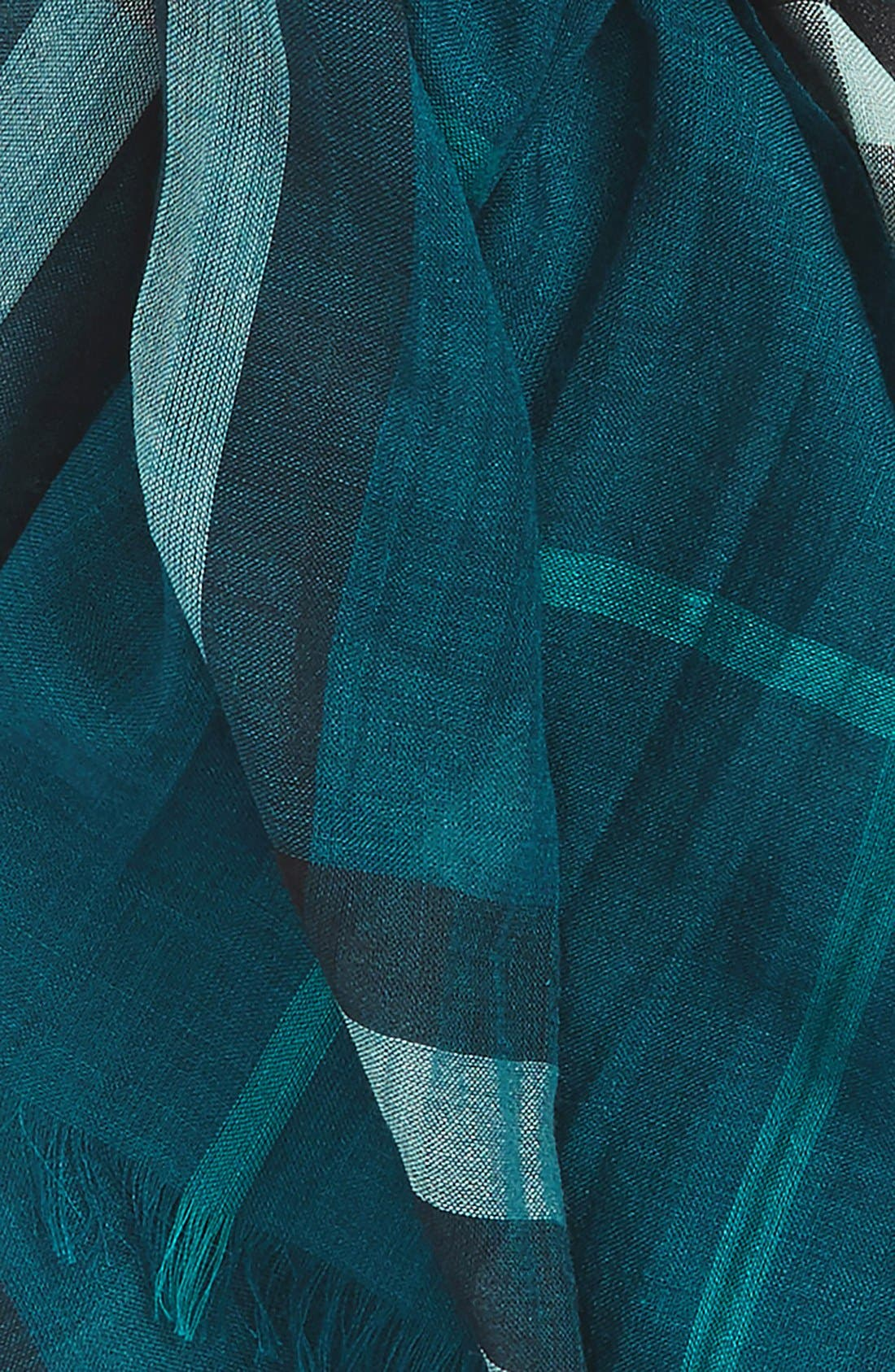 Giant Check Print Wool & Silk Scarf,                             Alternate thumbnail 127, color,
