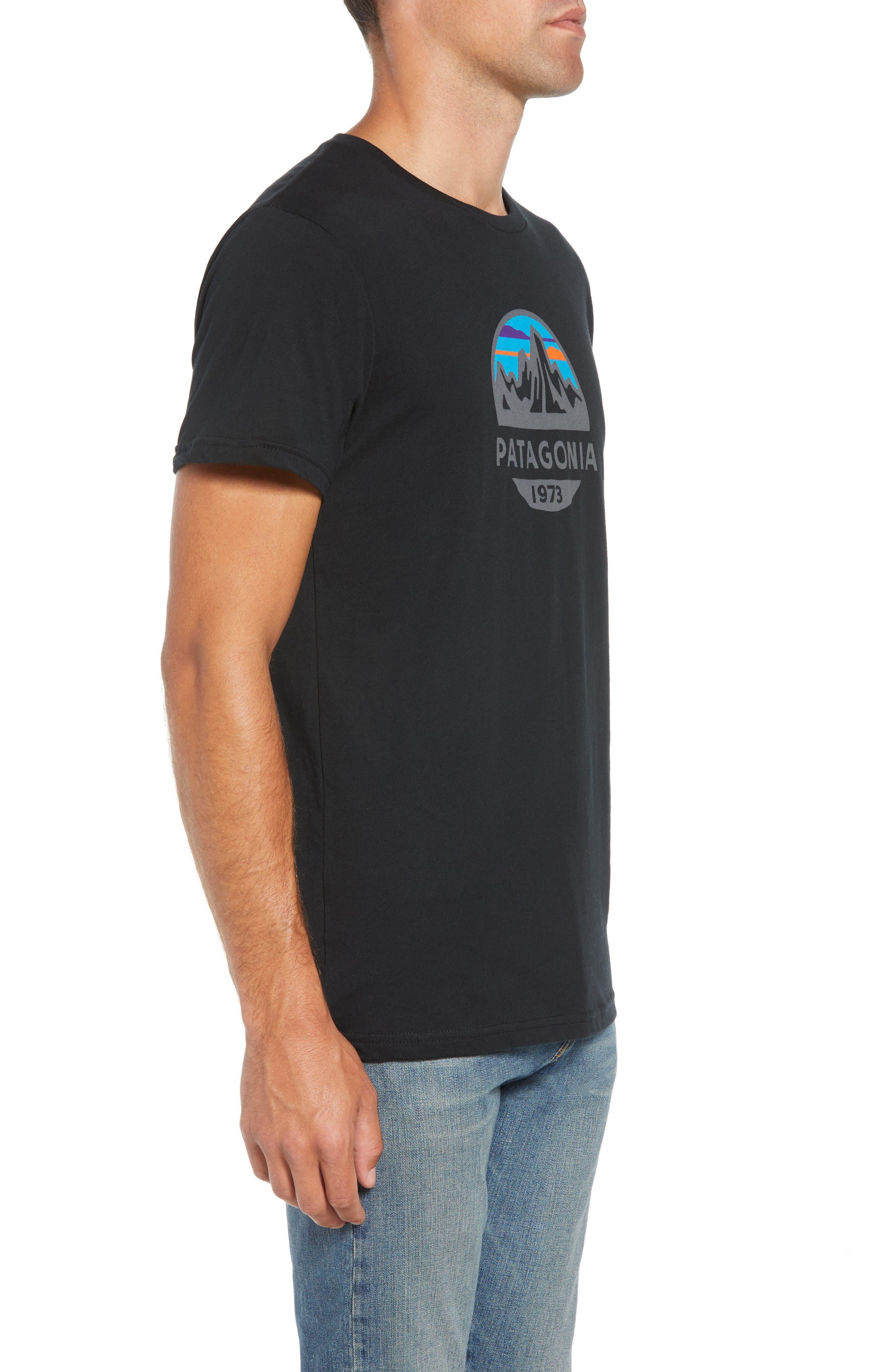 Fitz Roy Scope Crewneck T-Shirt,                             Alternate thumbnail 3, color,                             BLACK