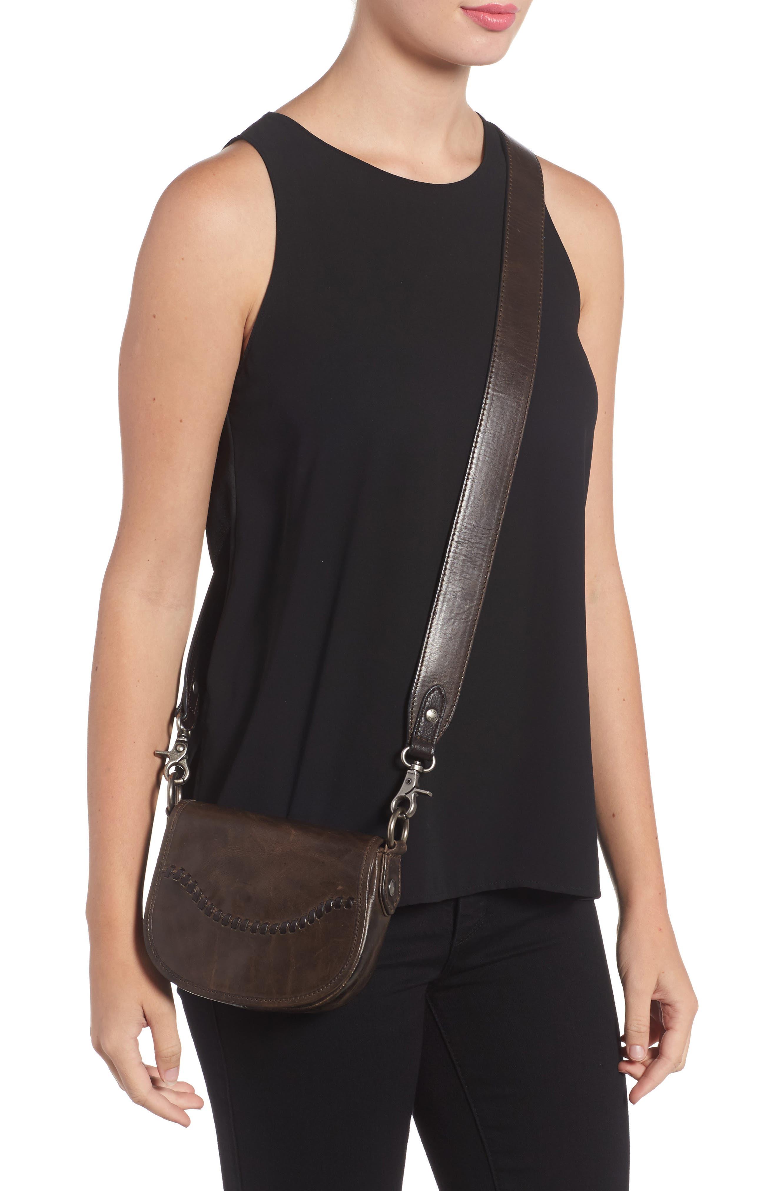 Mini Melissa Whipstitch Leather Saddle Bag,                             Alternate thumbnail 2, color,                             203