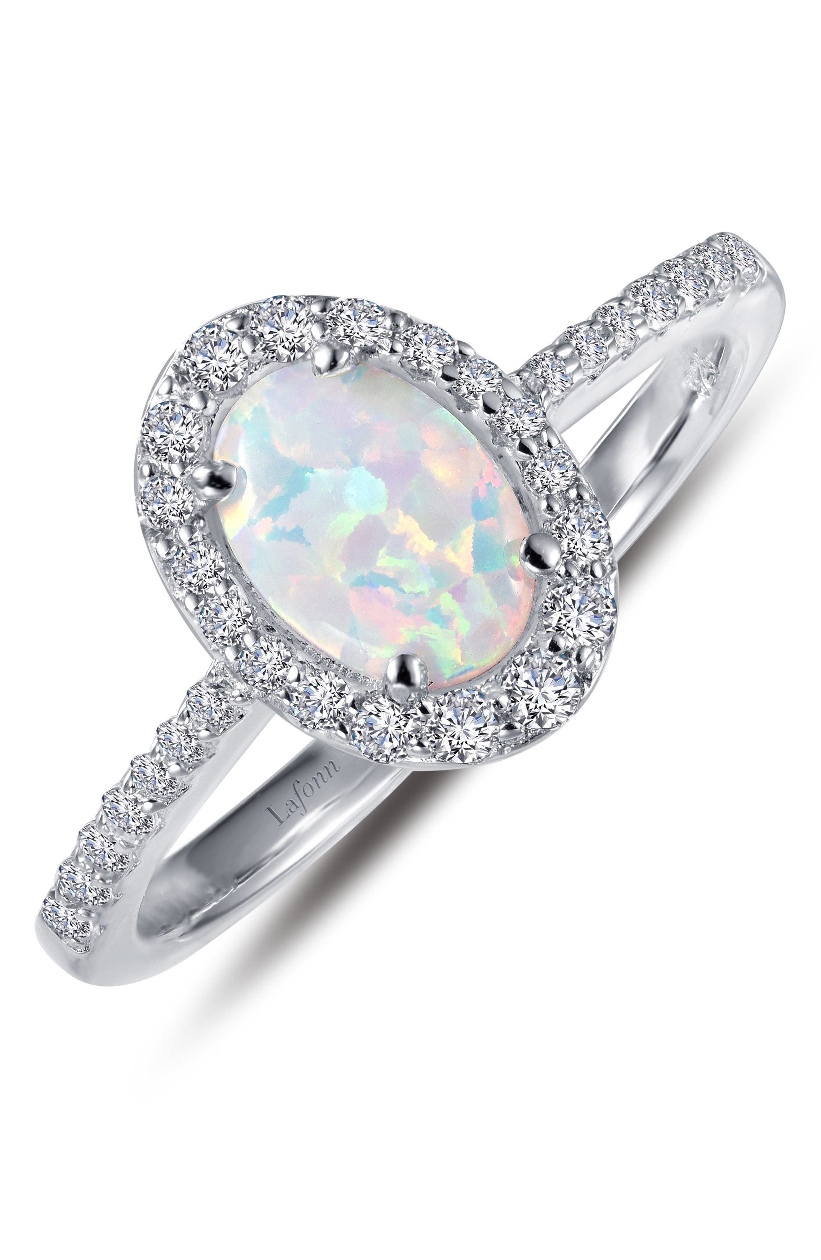 Sale alerts for  Simulated Diamond & Opal Ring - Covvet