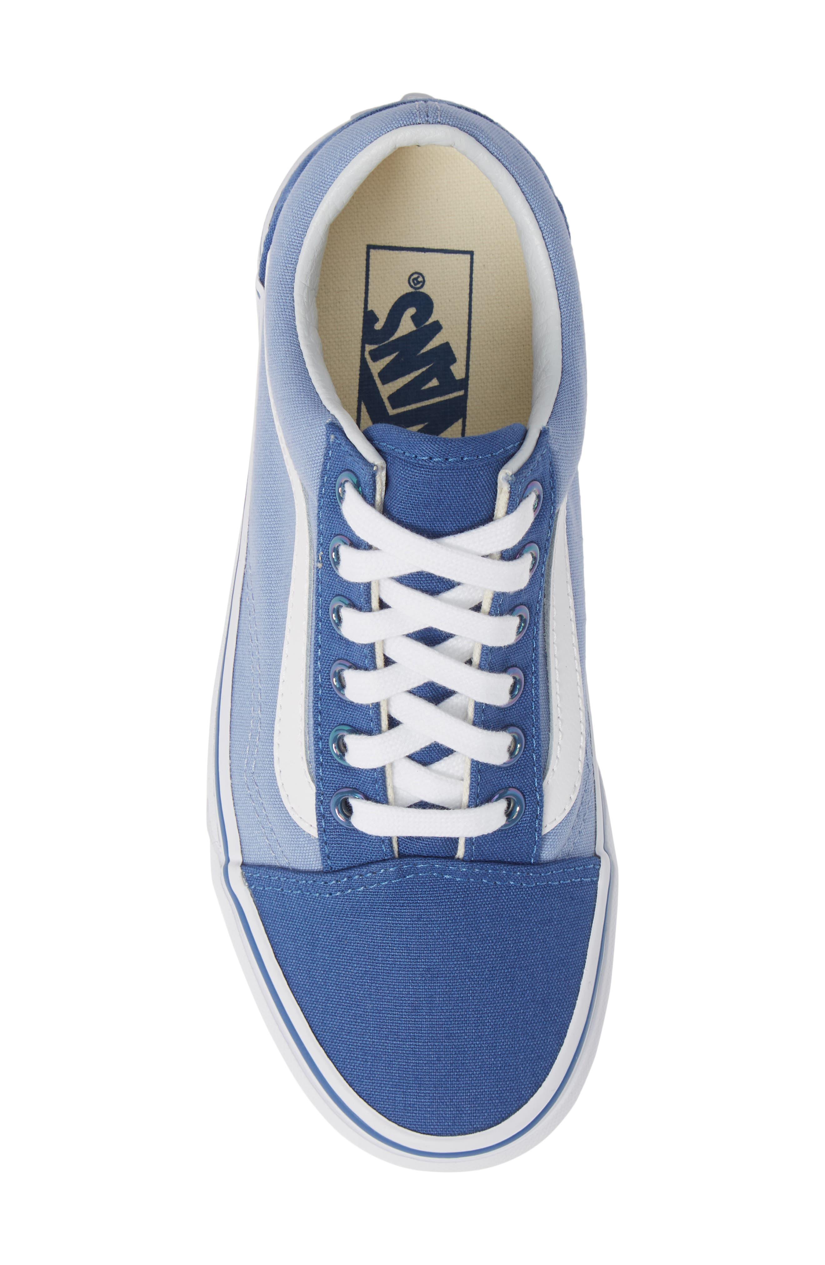 Old Skool Sneaker,                             Alternate thumbnail 5, color,                             FEDERAL BLUE/ LAVENDER LUSTER
