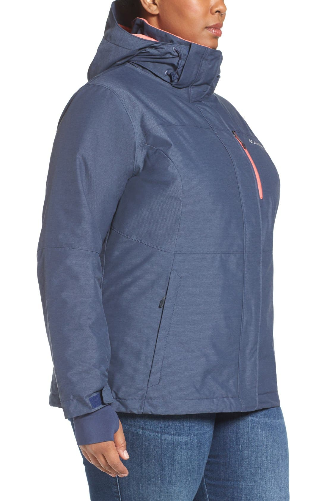 Alpine Action Waterproof Omni-Heat<sup>®</sup> Hooded Jacket,                             Alternate thumbnail 15, color,