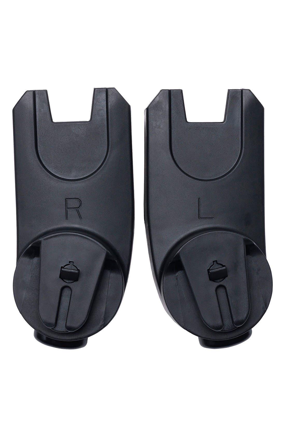 Car Seat Adaptor for Mima Xari Stroller and Maxi Cosi, Cybex & Nuna Car Seats,                             Main thumbnail 1, color,                             BLACK